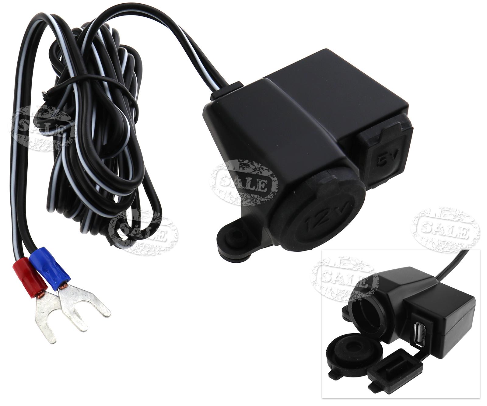 Waterproof usb phone charger v motorbike cigarette