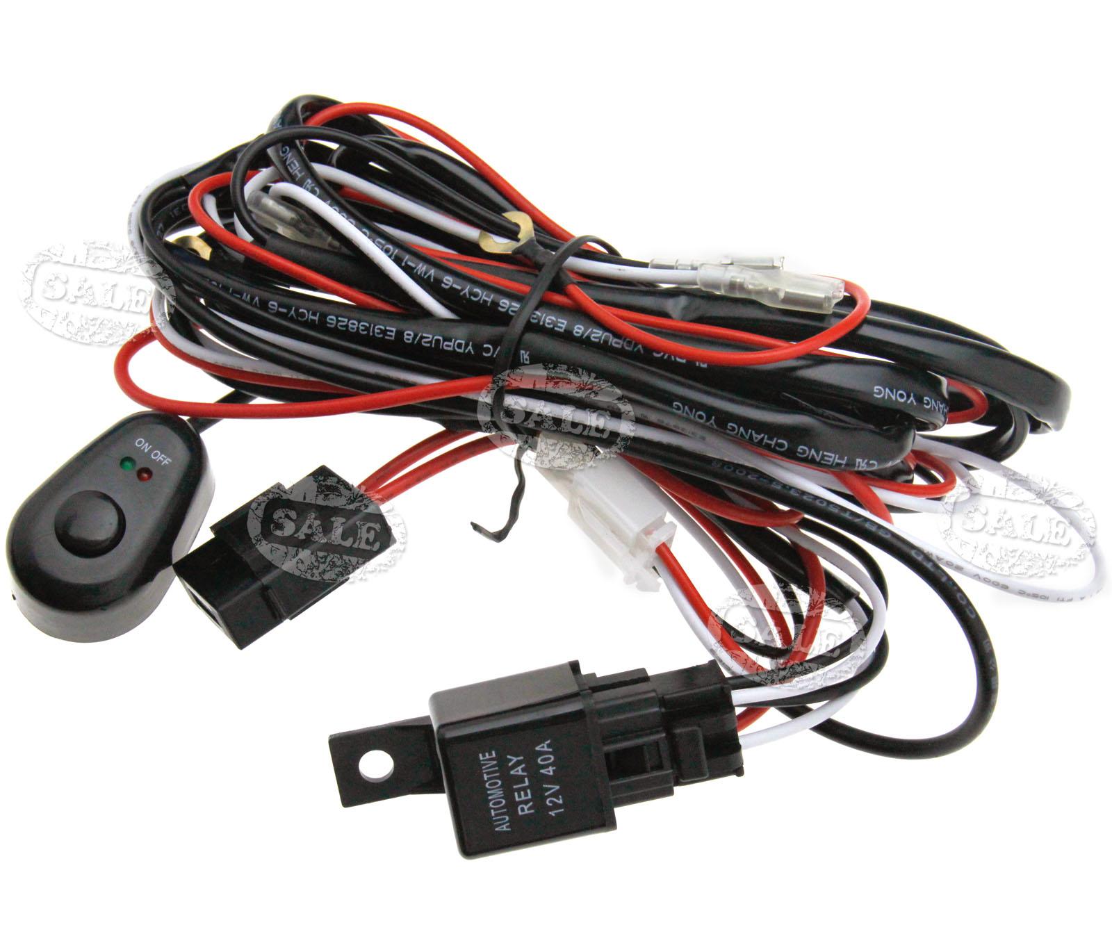 12V Universal HID Driving Spot Light Wiring Harness Kit