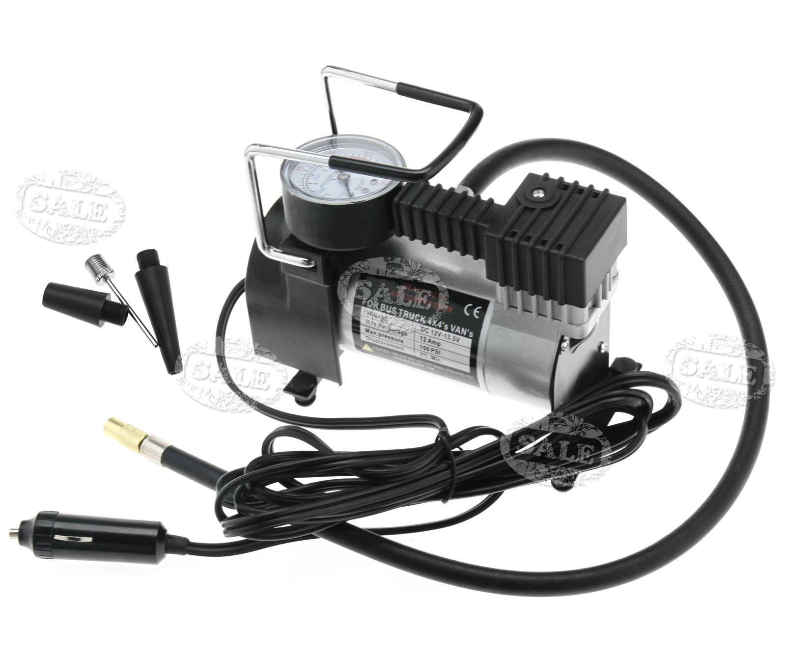 New 100psi Portable Car Tyre Air Compressor Pump 12V Auto Tire  #777054