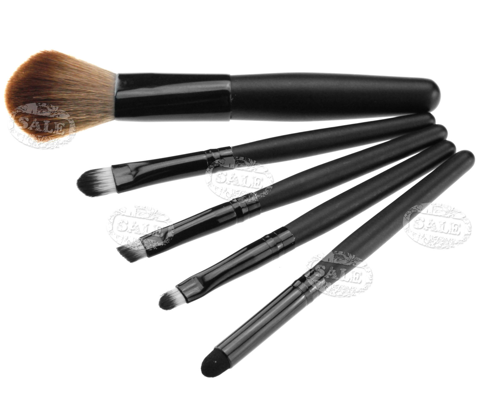 5PCS COSMETIC MAKE UP BRUSH SET WITH PINK BAG CASE