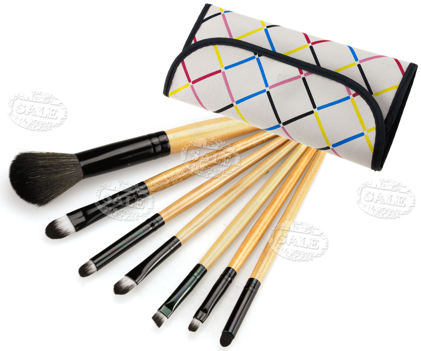 professional Cosmetic Make Up Brush with white bag case ...