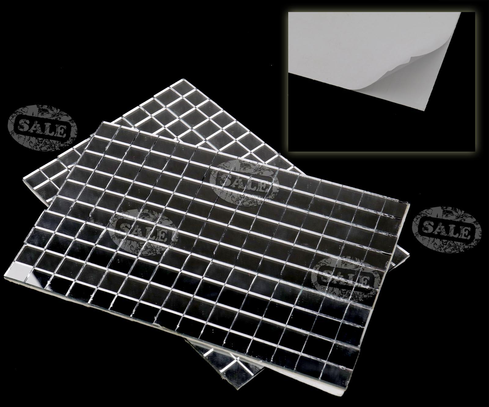 5x 150 silver self adhesive mirror mosaic tile mirror for Perfekt mosaik bordure