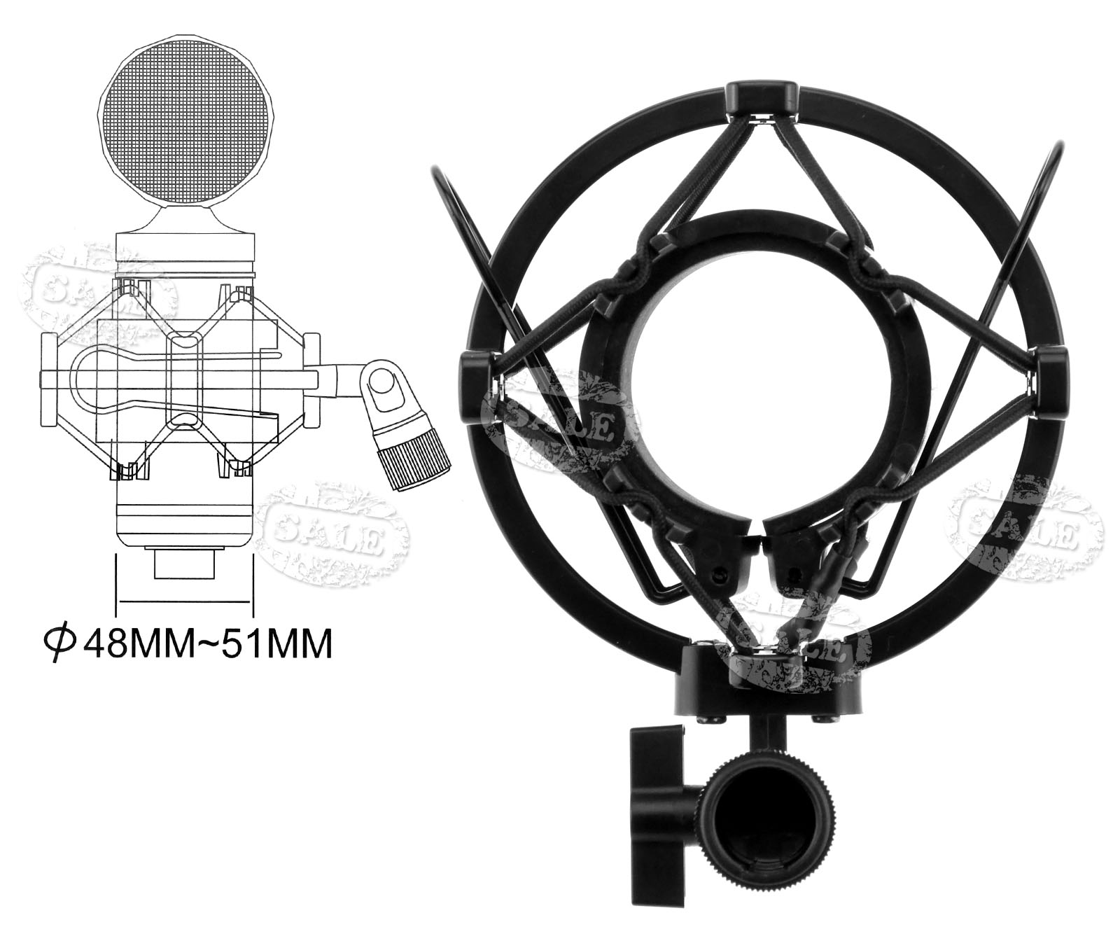 how to attach shock mount to mic stand
