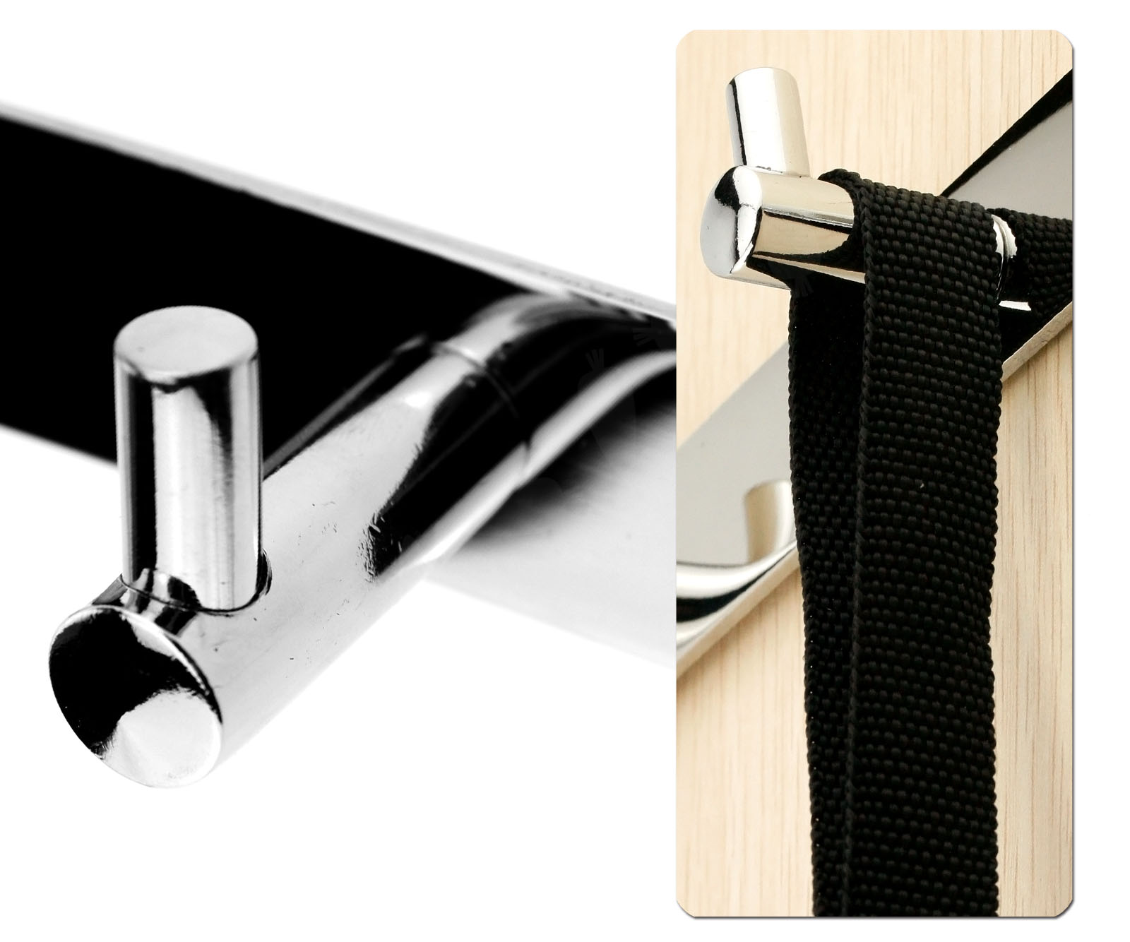 Simple Style Durable Stainless Steel 3 Hooks Wall Hanger
