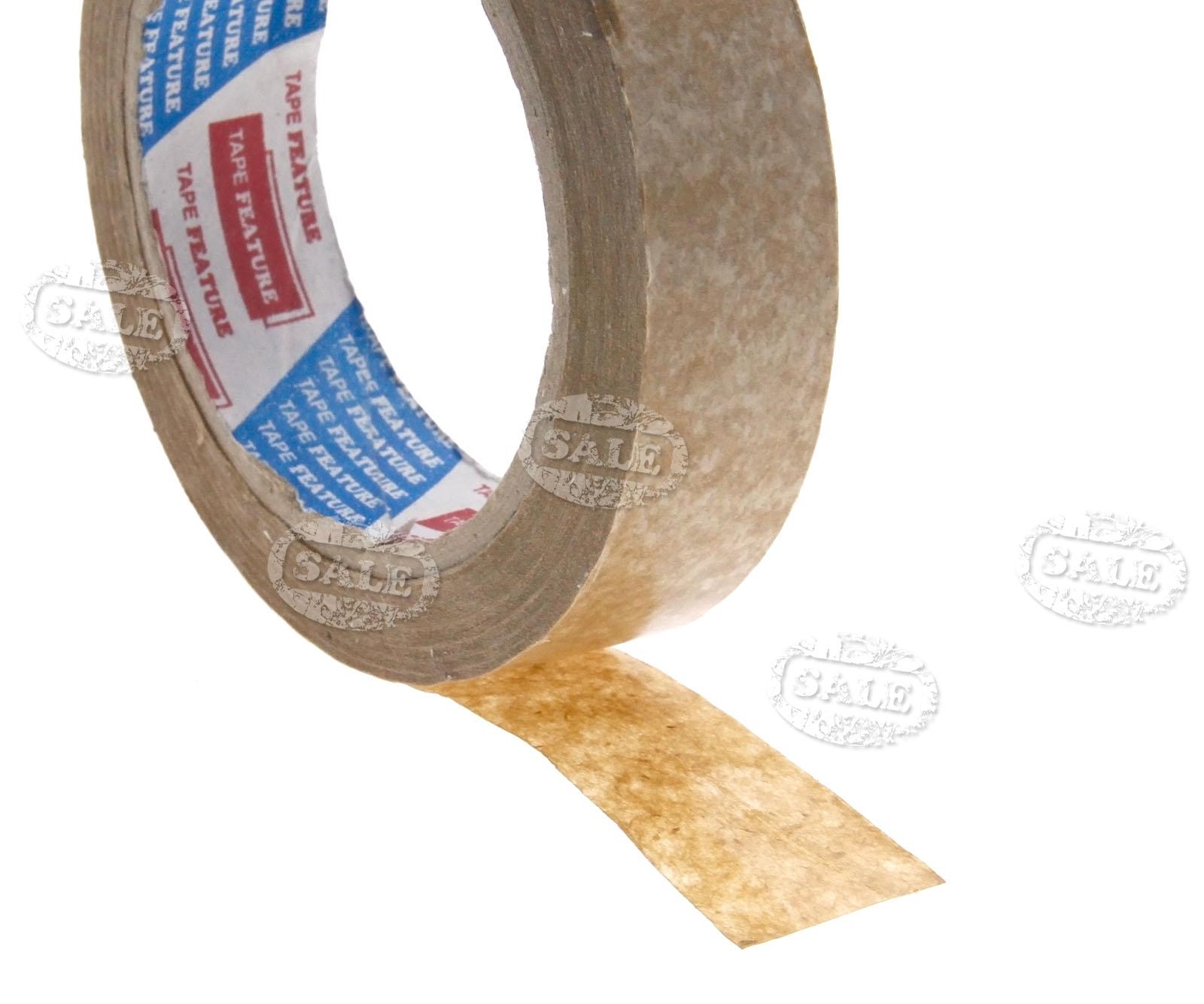 24mm X 50m 60gsm Brown Self Adhesive Kraft Pricture