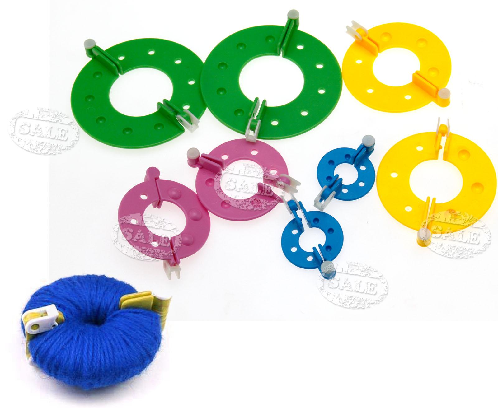 Knitting Loom Pom Pom Maker : New knitting tool kit cm loom rings pompom