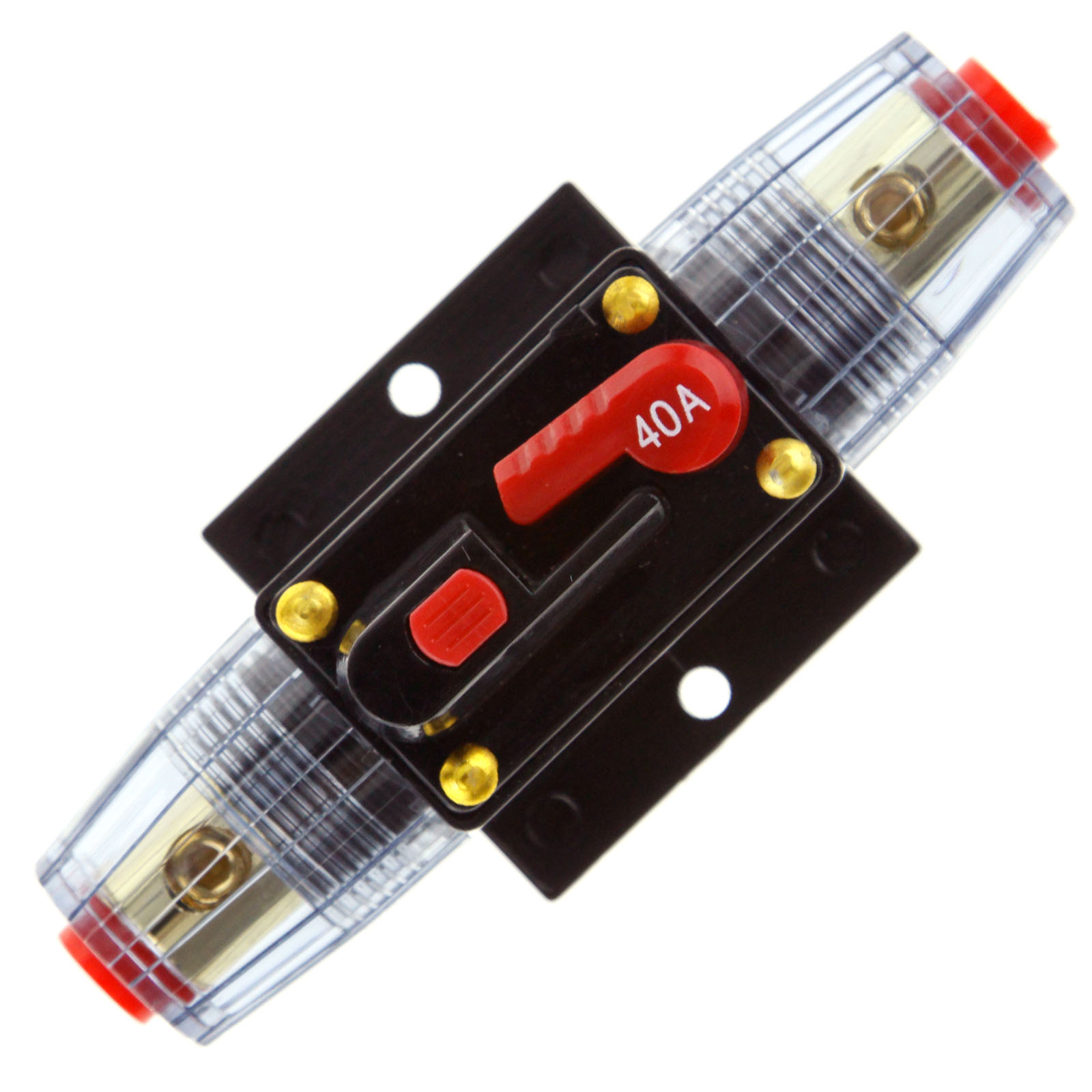 40 60 100amp car audio agu style 12v circuit breaker fuse. Black Bedroom Furniture Sets. Home Design Ideas