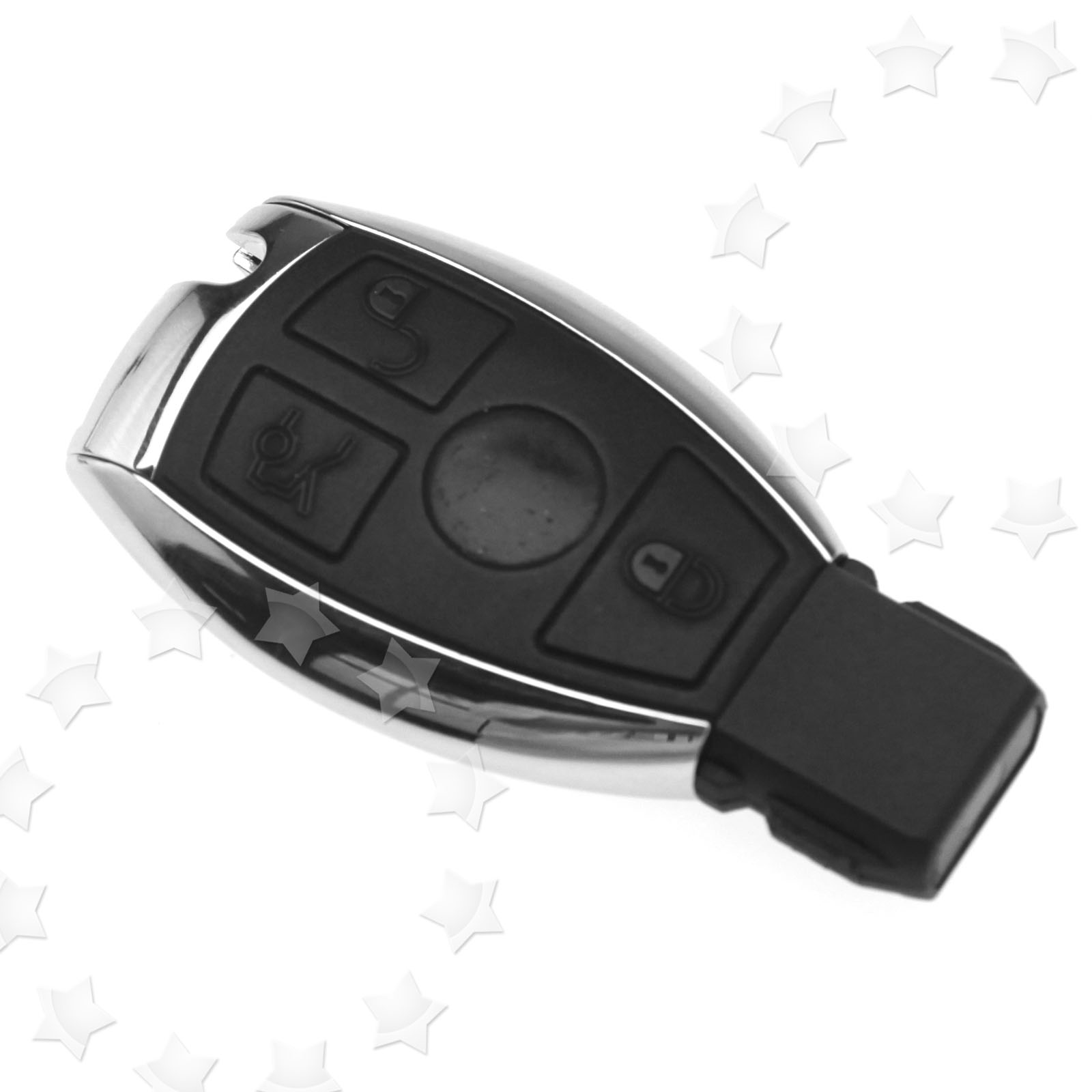3 Button Remote Fob Key Case Shell For MERCEDES BENZ C