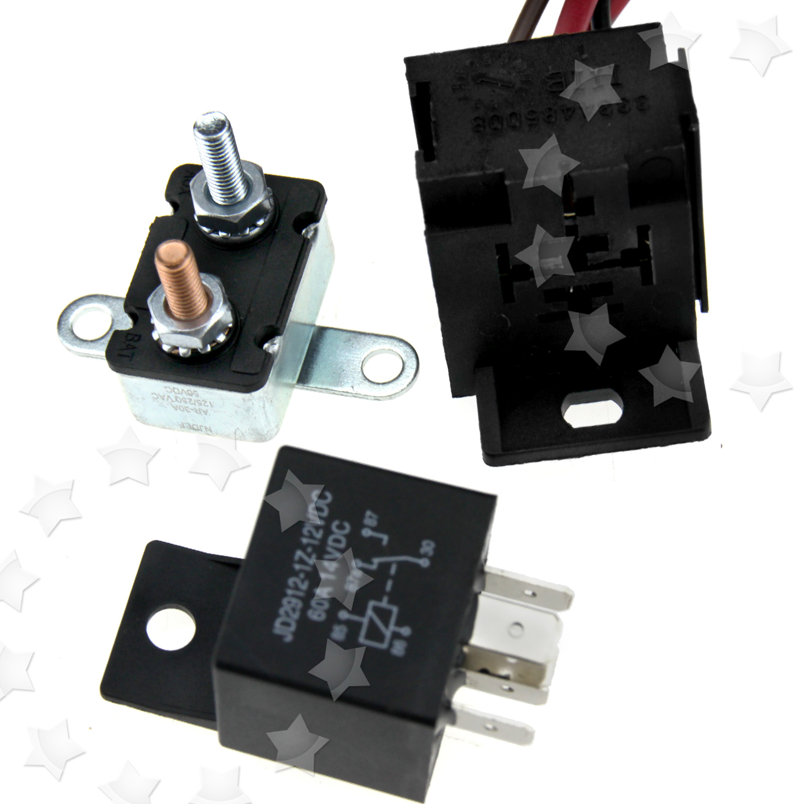 Fan thermostat switch sensor kits 5 pins relay 200 185 degree engine cooling ebay - Four 200 degres thermostat ...