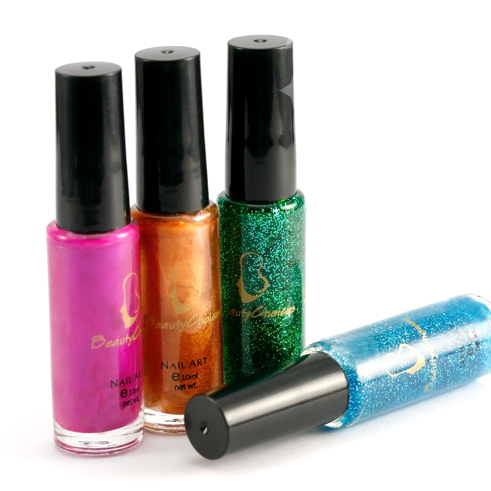 Nail Polish Tips: Mix 40 Colors Soid Pure Glitter Brush Pen Varnish Polish