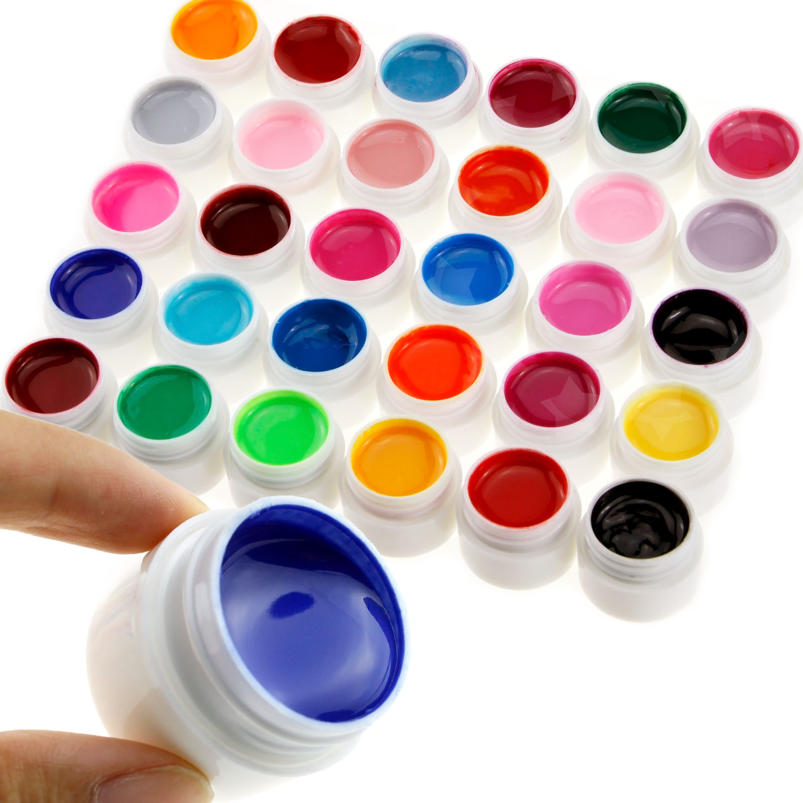 60 Mischen Farben Farbgele UV Gel Set Solide & Perle