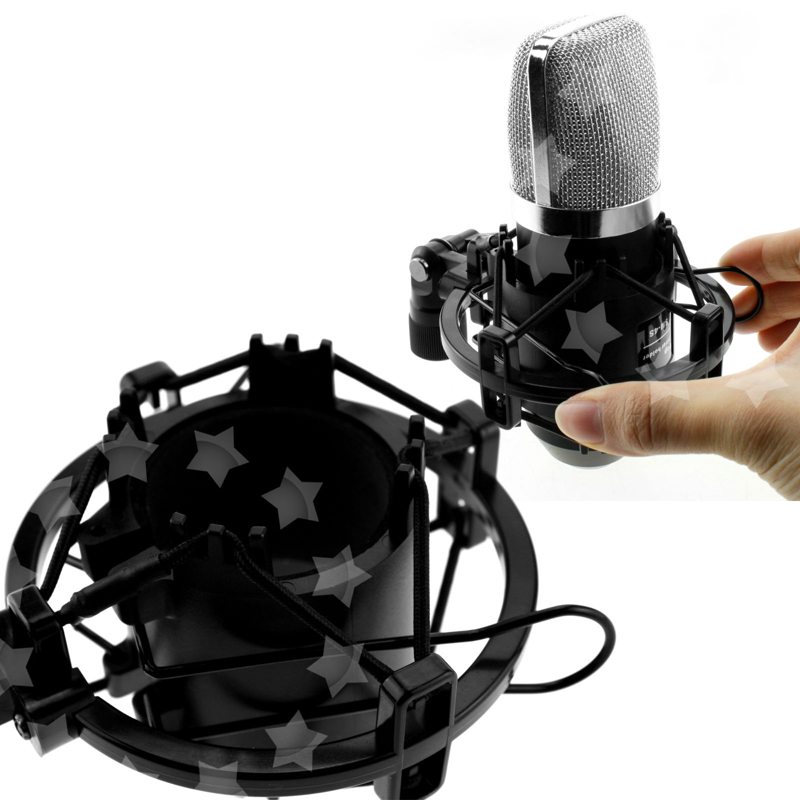 how to put a mic on a shock mount