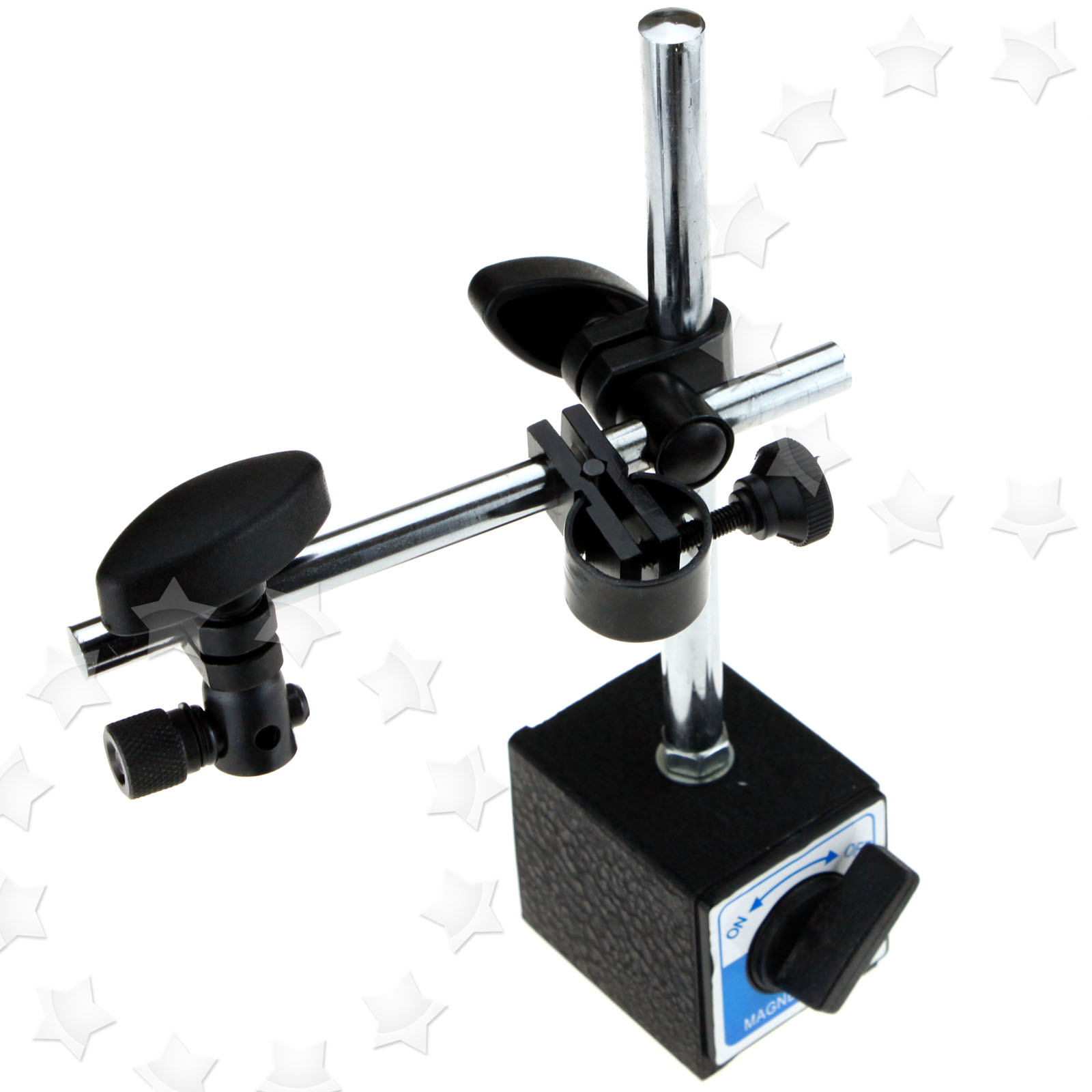 Magnetic Boom Arm : Magnetic base holder double adjustable pole for dial