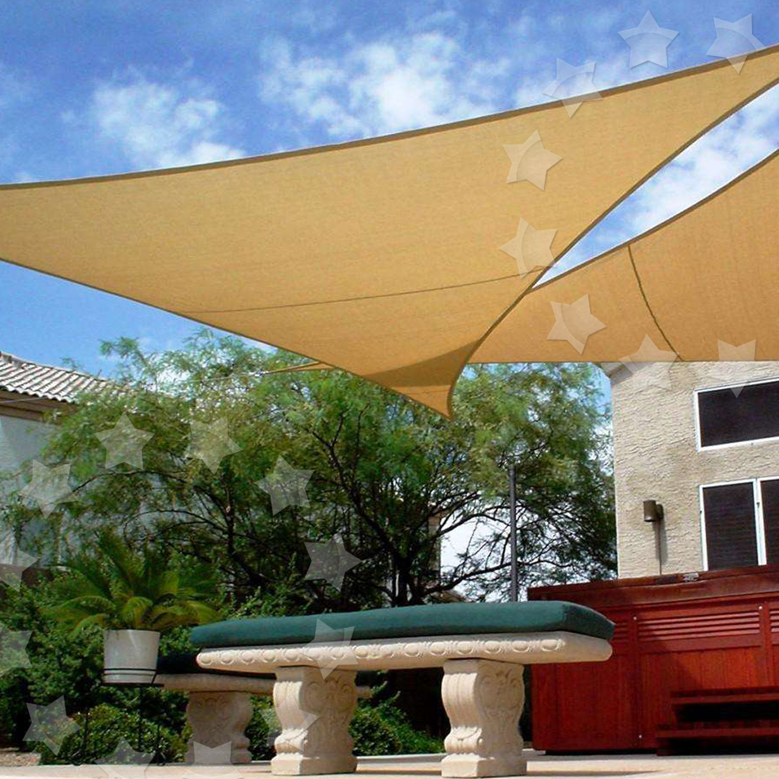 Sun Shade Sail Patio Garden Awning Sunscreen Canopy 98% UV