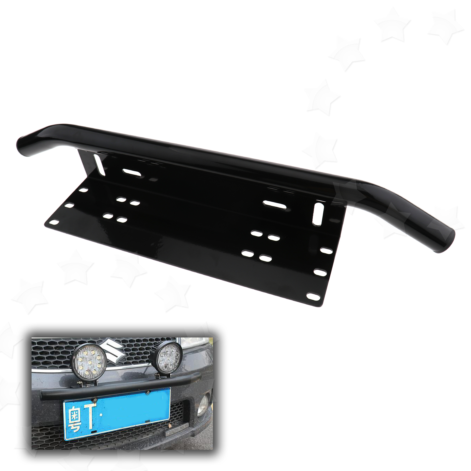 Aluminum Numbers Licence Plate Mount Bracket For Led