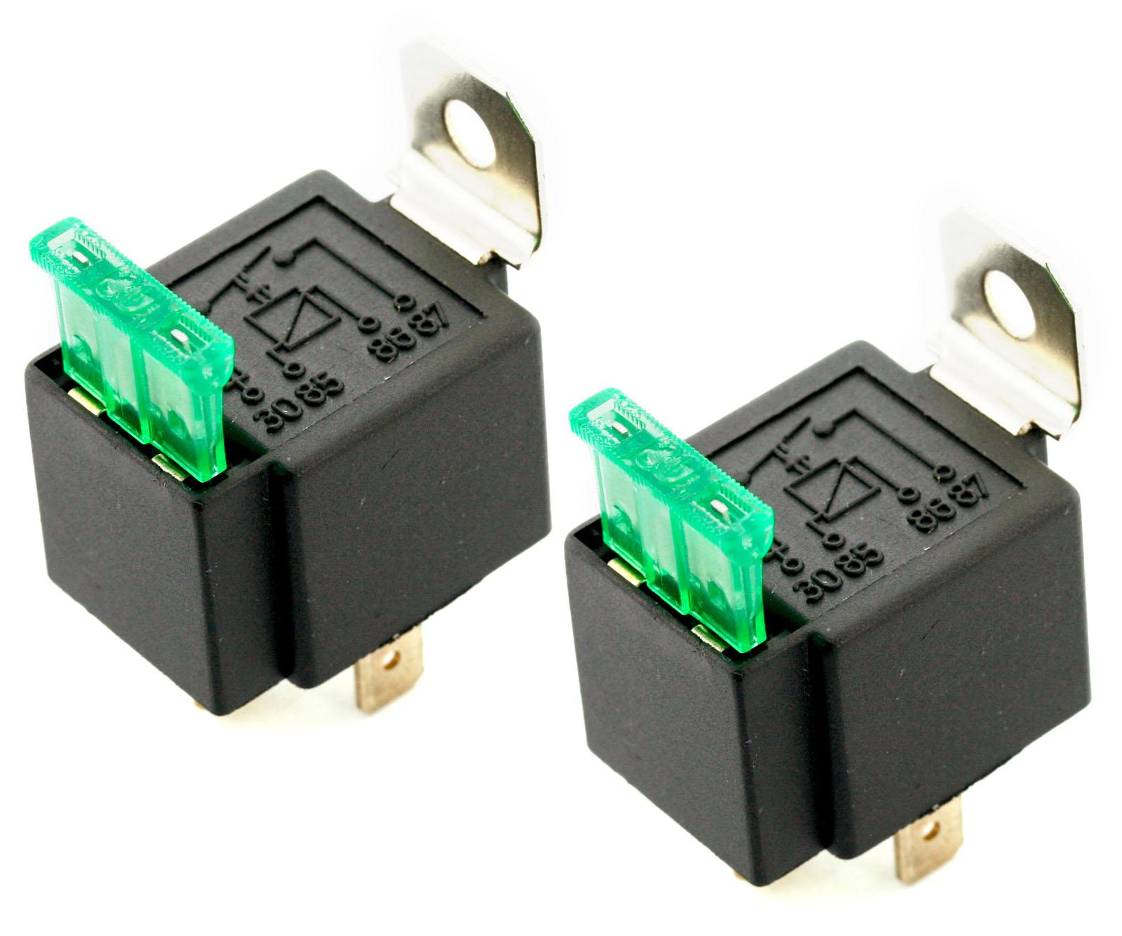 2pcs 12v 30 Amp On Off Switch 4 Pin Fused Relay Uk Q86