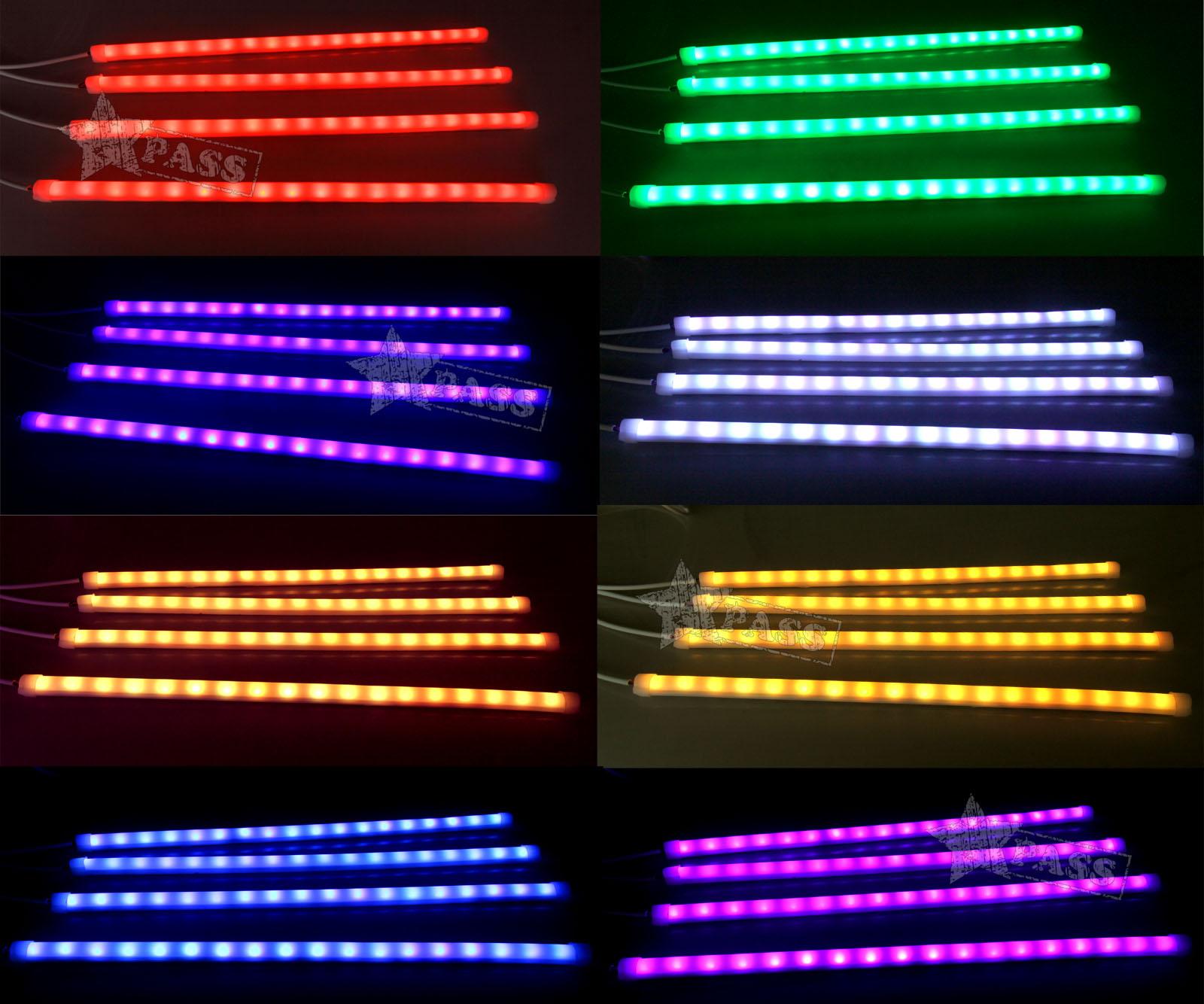 12v led car rgb interior light strips atmosphere wireless - Automotive interior led light strips ...