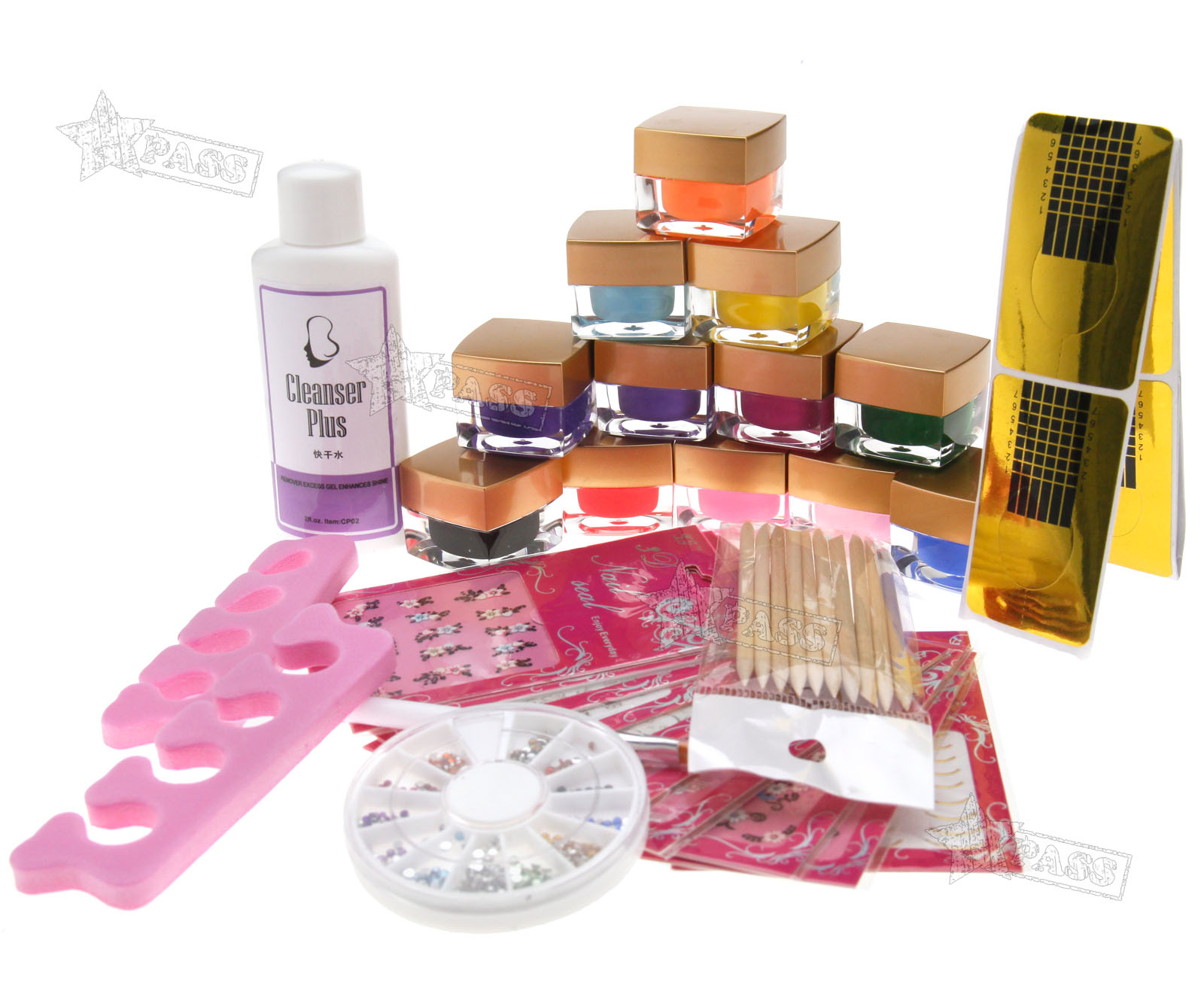 mix 12 colors acrylic nail art uv gel starter kit q15 ebay. Black Bedroom Furniture Sets. Home Design Ideas