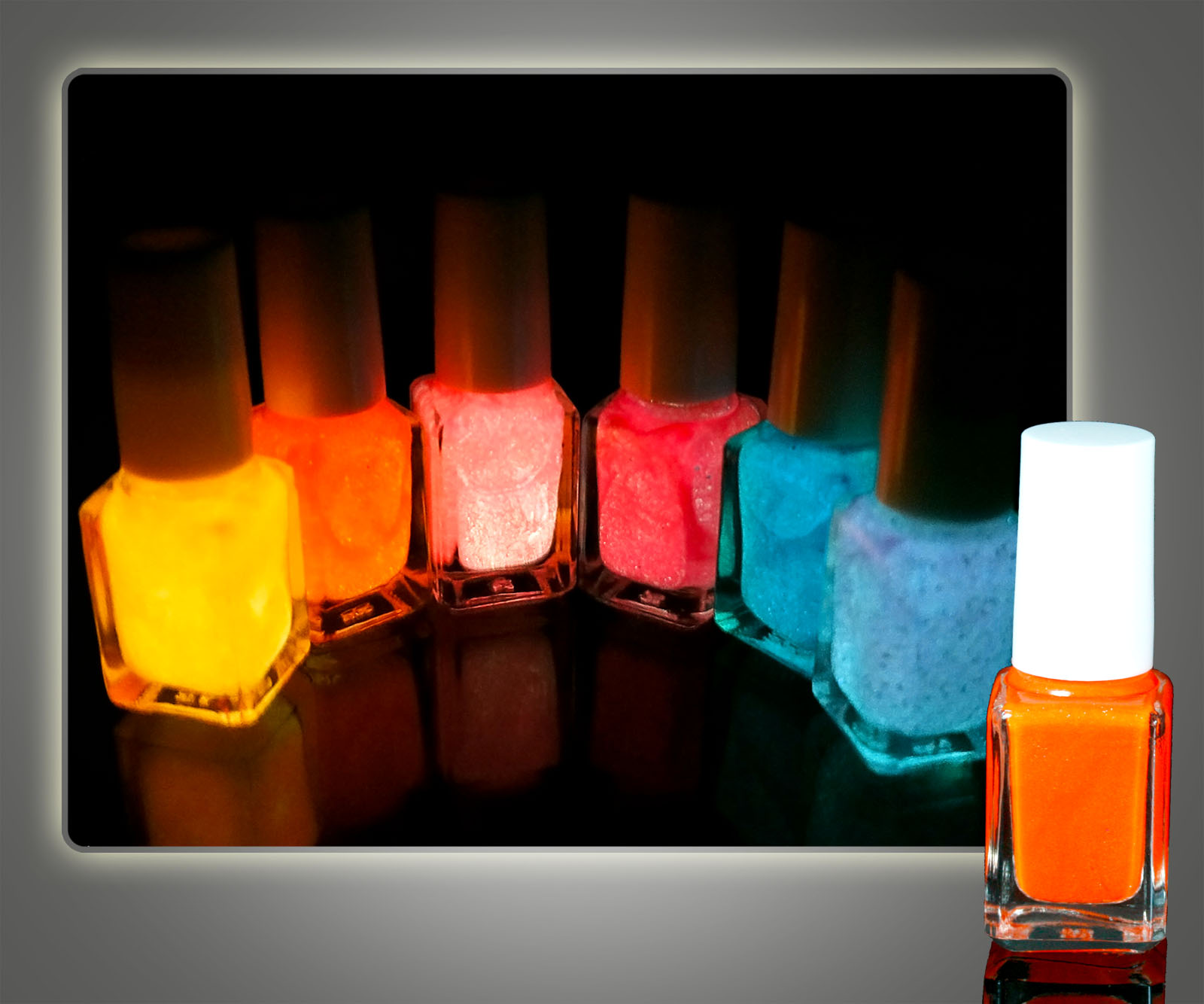 Fluorescent Neon Nail Polish: 12pcs X7ml Mix Color Fluorescent Neon Nail Art Polish Glow