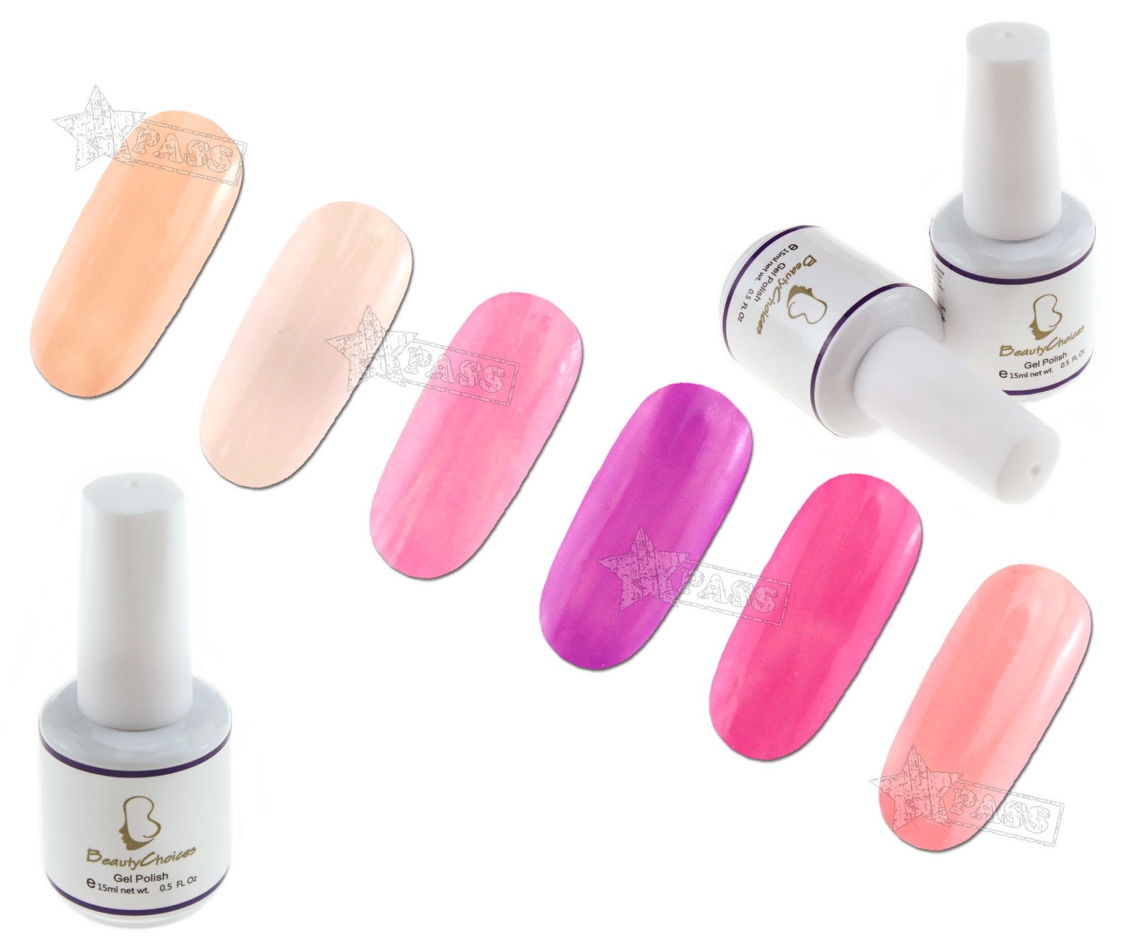 Nail Polish Tips: New 12 Pcs Soak Off UV Gel Nail Art Tips Pure Color
