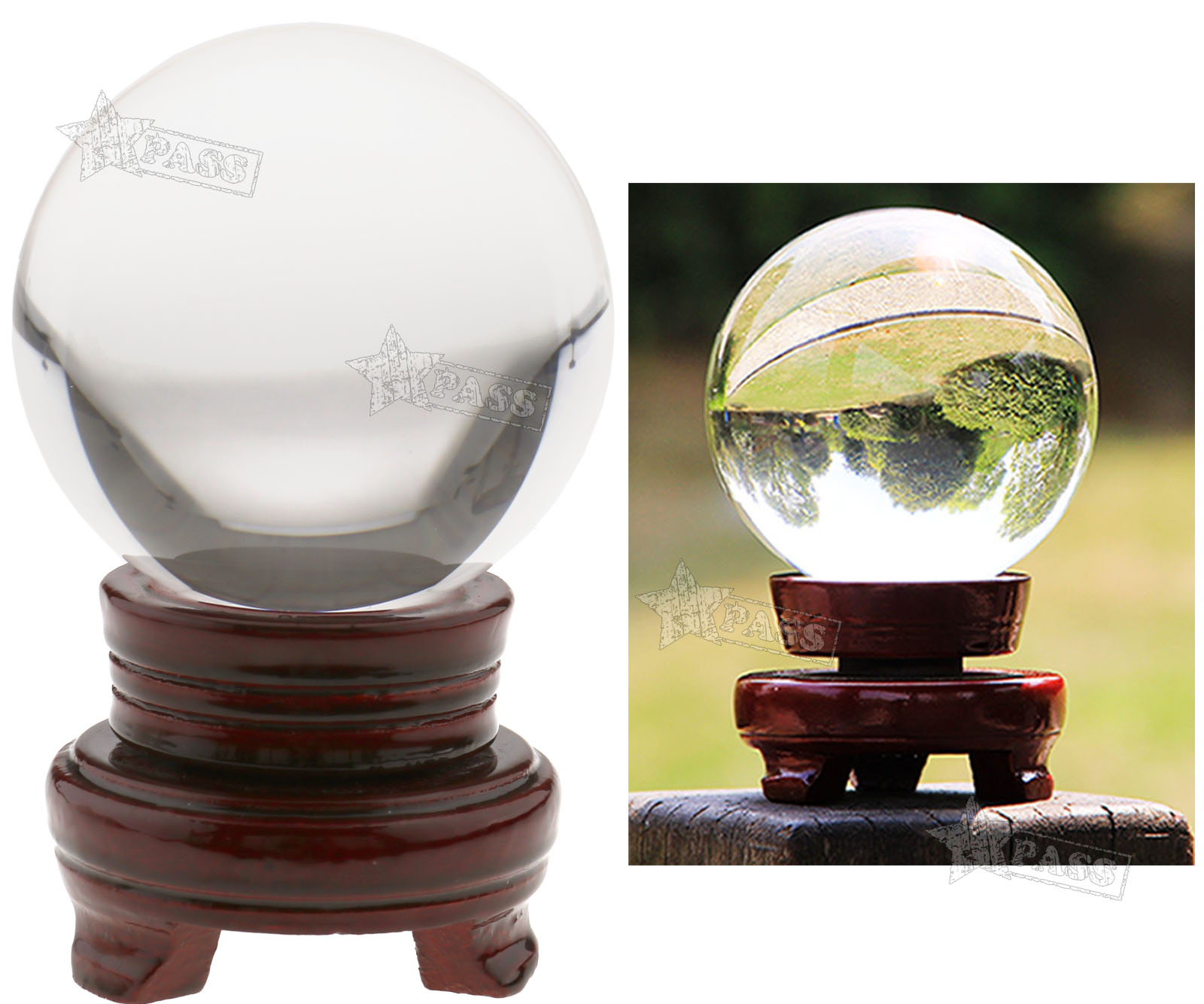 Mm clear glass crystal ball magic healing meditate