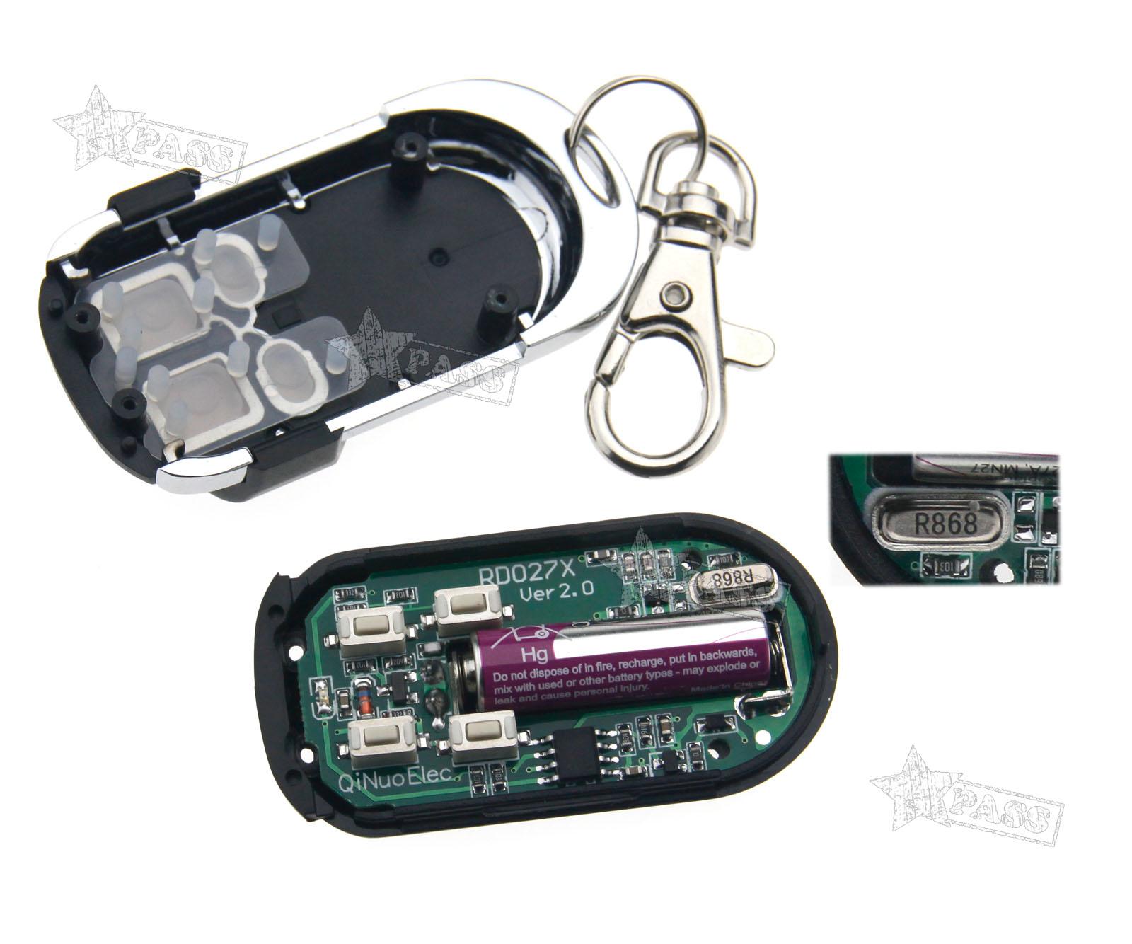 1pc 868 3mhz Copy Code Cloning Electronic Key Fob Garage