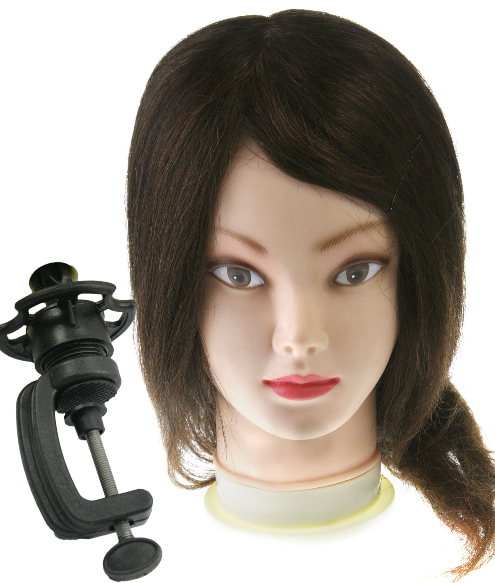 Hairdressing Practice Training Head Doll Mannequin Clamp