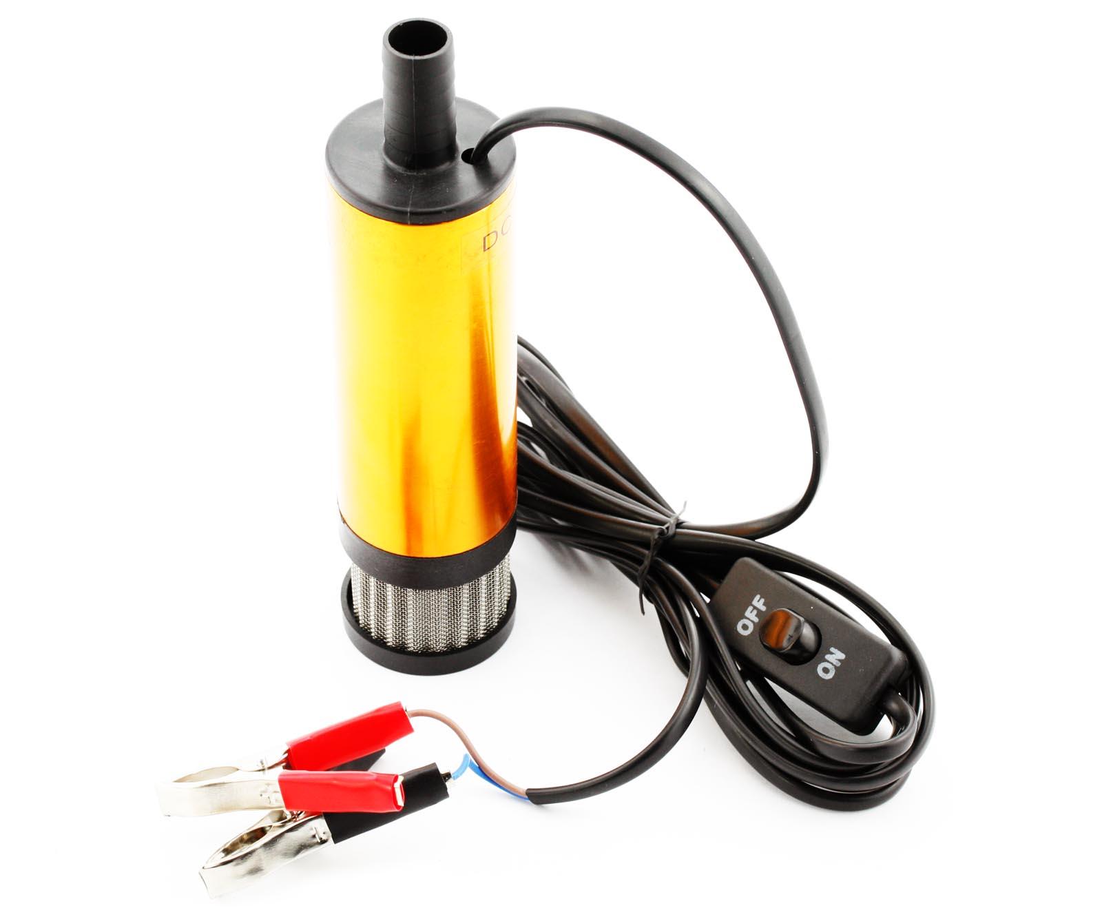 12v car motor vehicle transfer pump diesel fuel water oil for Water in motor oil