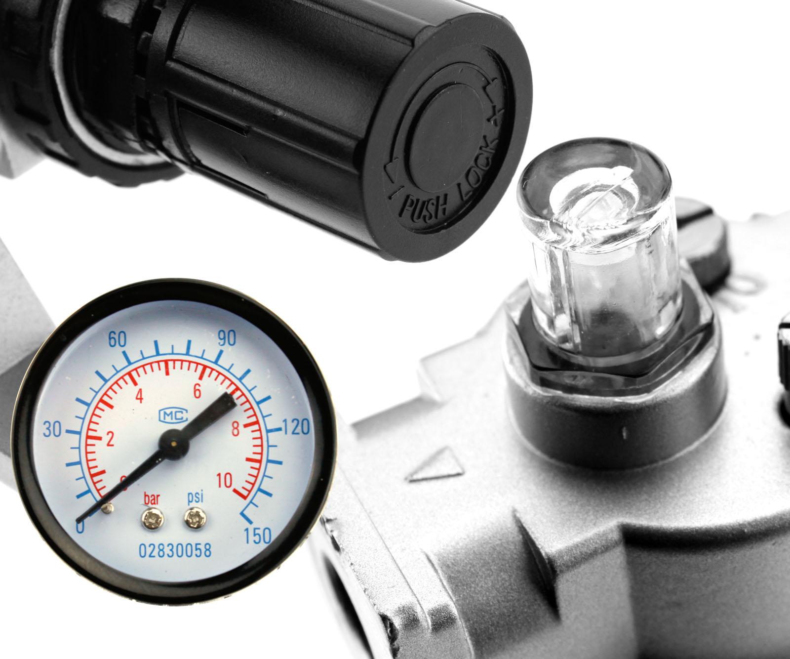 how to use air compressor filter regulator