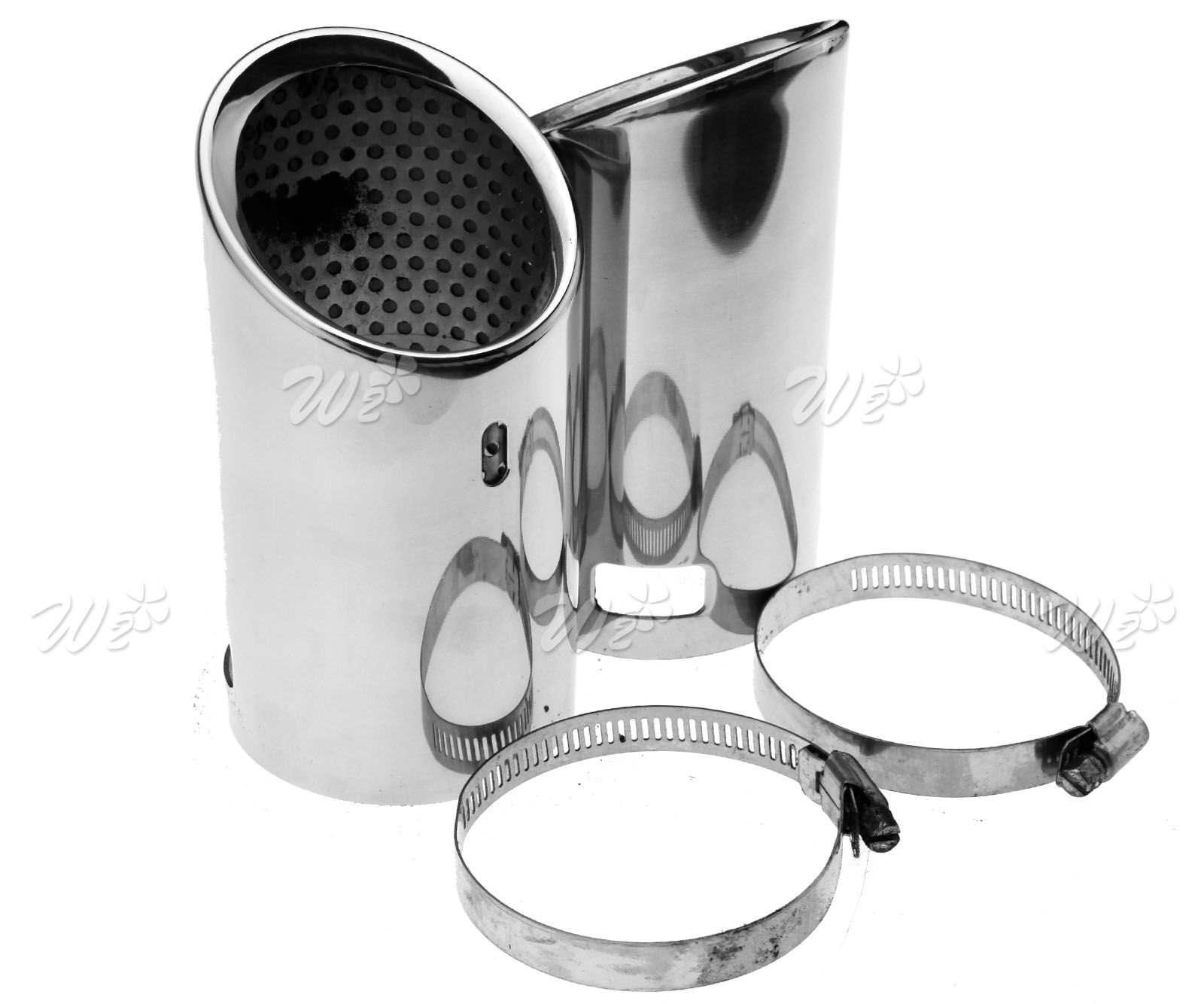 2 Pieces Stainless Steel Tip Pipe Exhaust Tail For VW CC