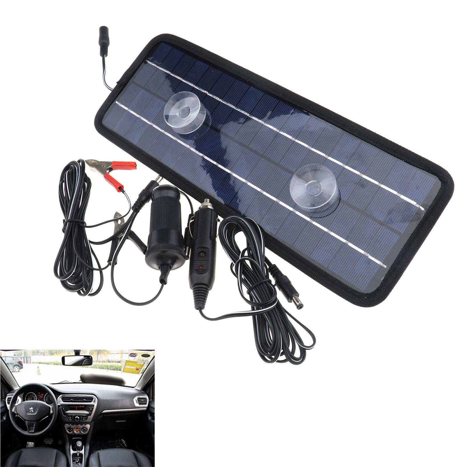 Car Boat Yacht Atv Rv Solar Panel Trickle Battery Charger