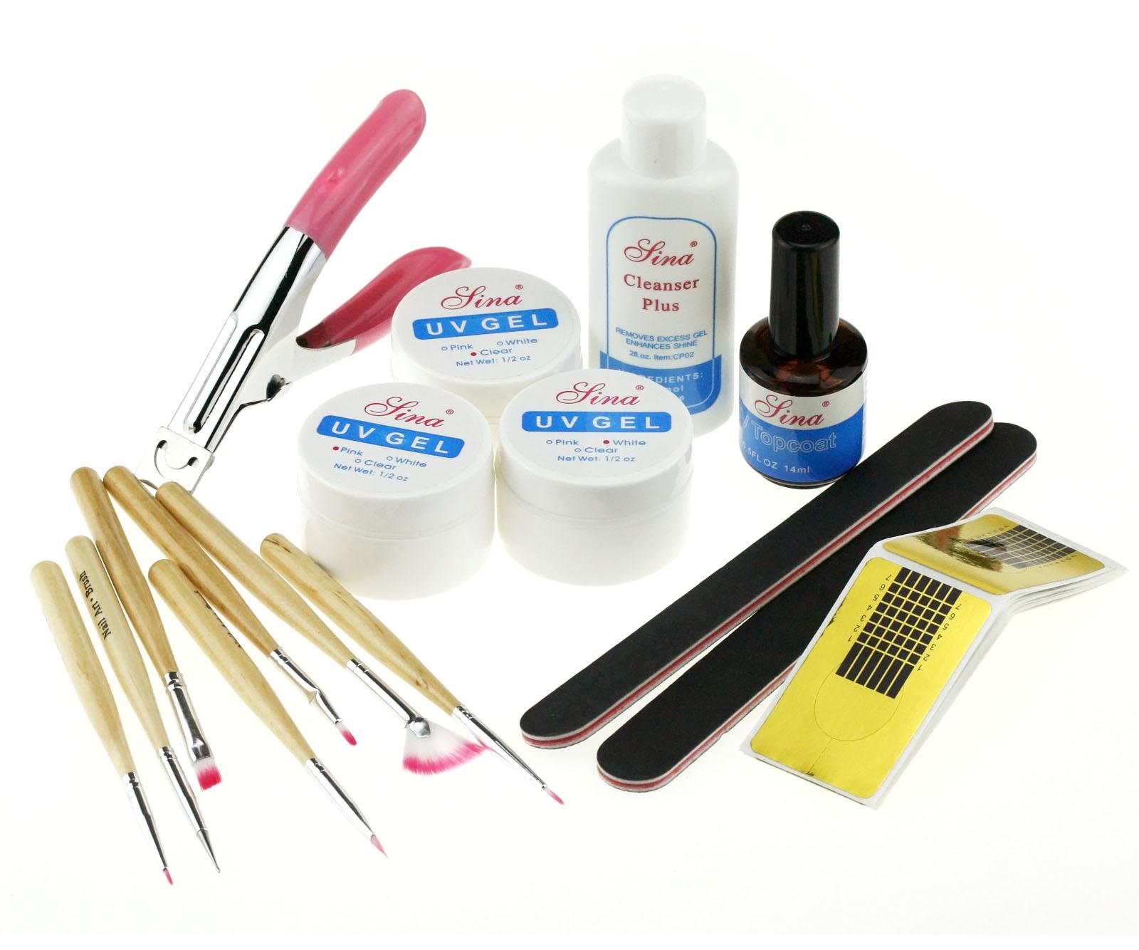 Acrylic UV Nail Art UV Gel Builder Starter Kit/Set W147 | eBay