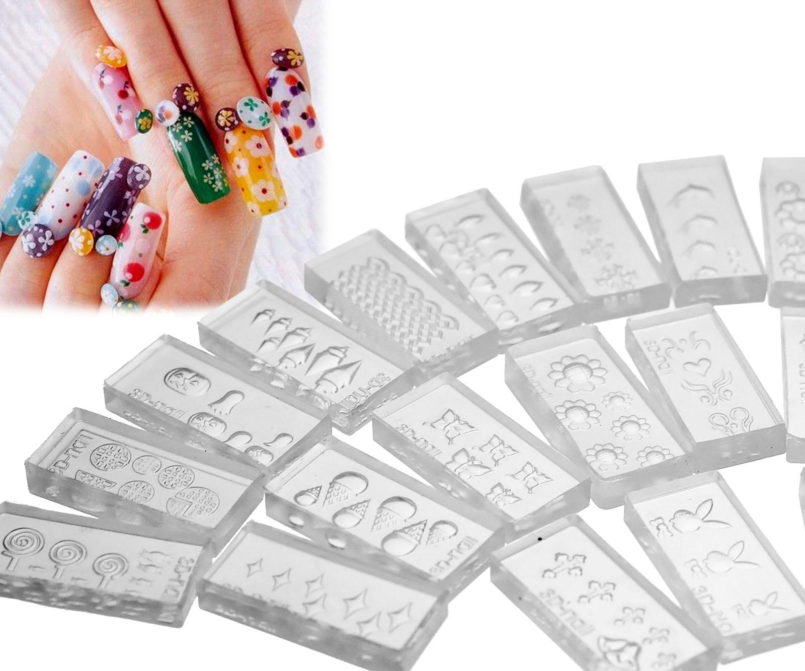 30 pattern 3d acrylic nail art tips mold diy decoration kit for 3d acrylic nail art mold diy decoration