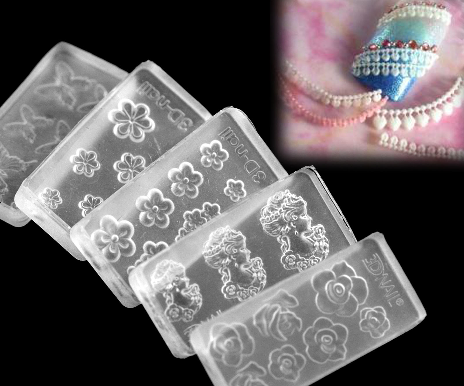 30 different 3d acrylic nail art tips mold diy decoration for 3d acrylic nail art mold diy decoration