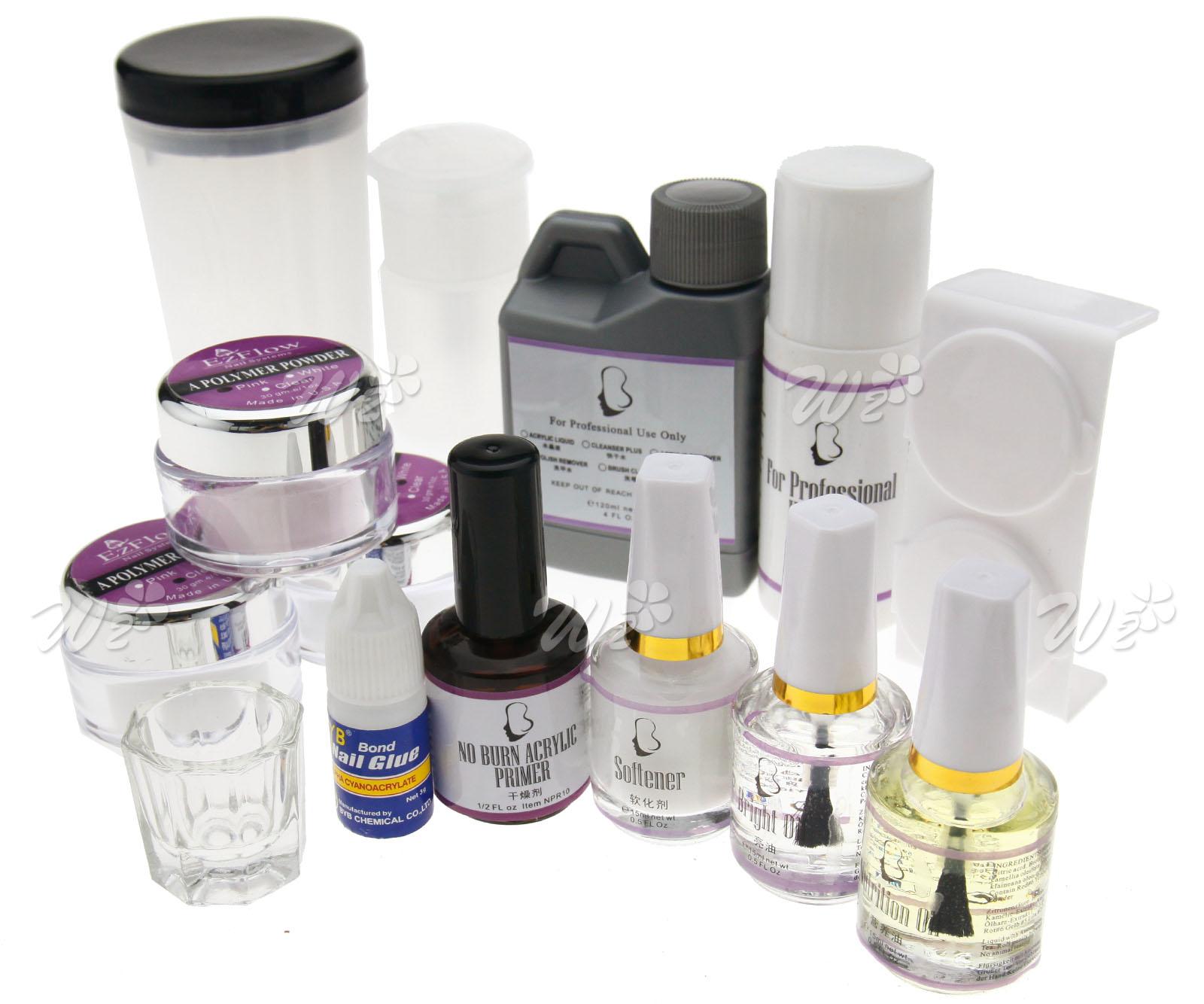 Premium Acrylic Nail Art Tips Glitter Powder Brush Set