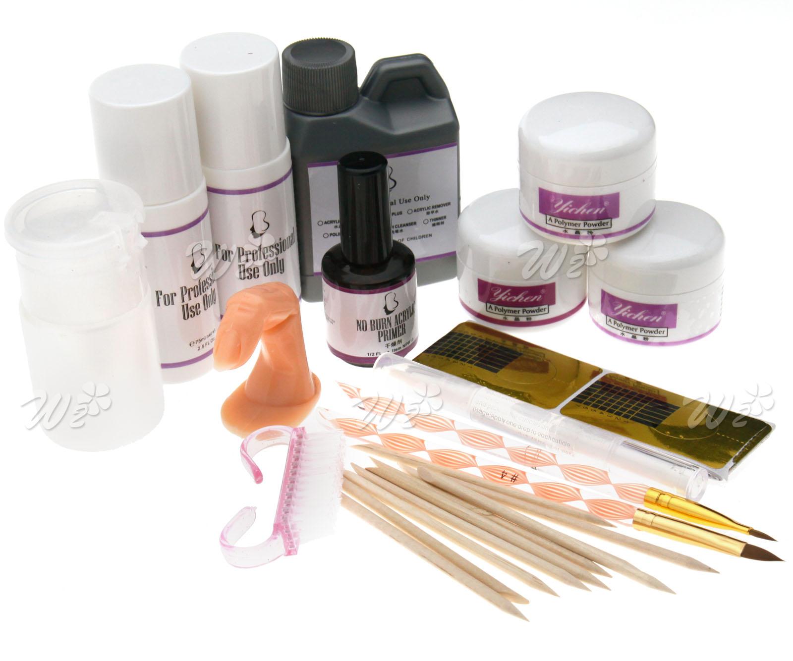 New Acrylic Nail Art Powder Liquid Rhinestone Practice