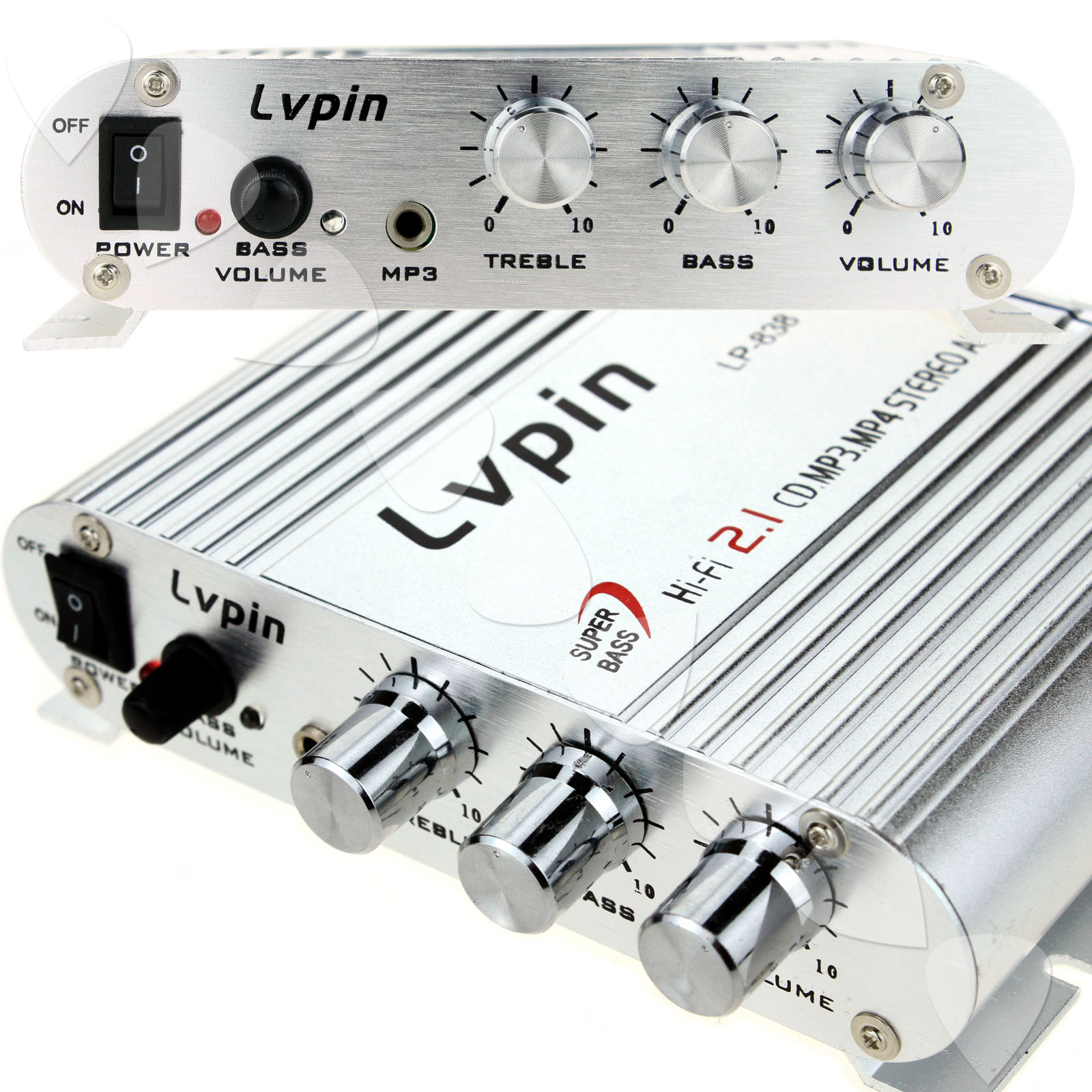 12v Mini Hifi Audio Stereo Super Bass Amplifier Amp For Car Motorcycle Boat