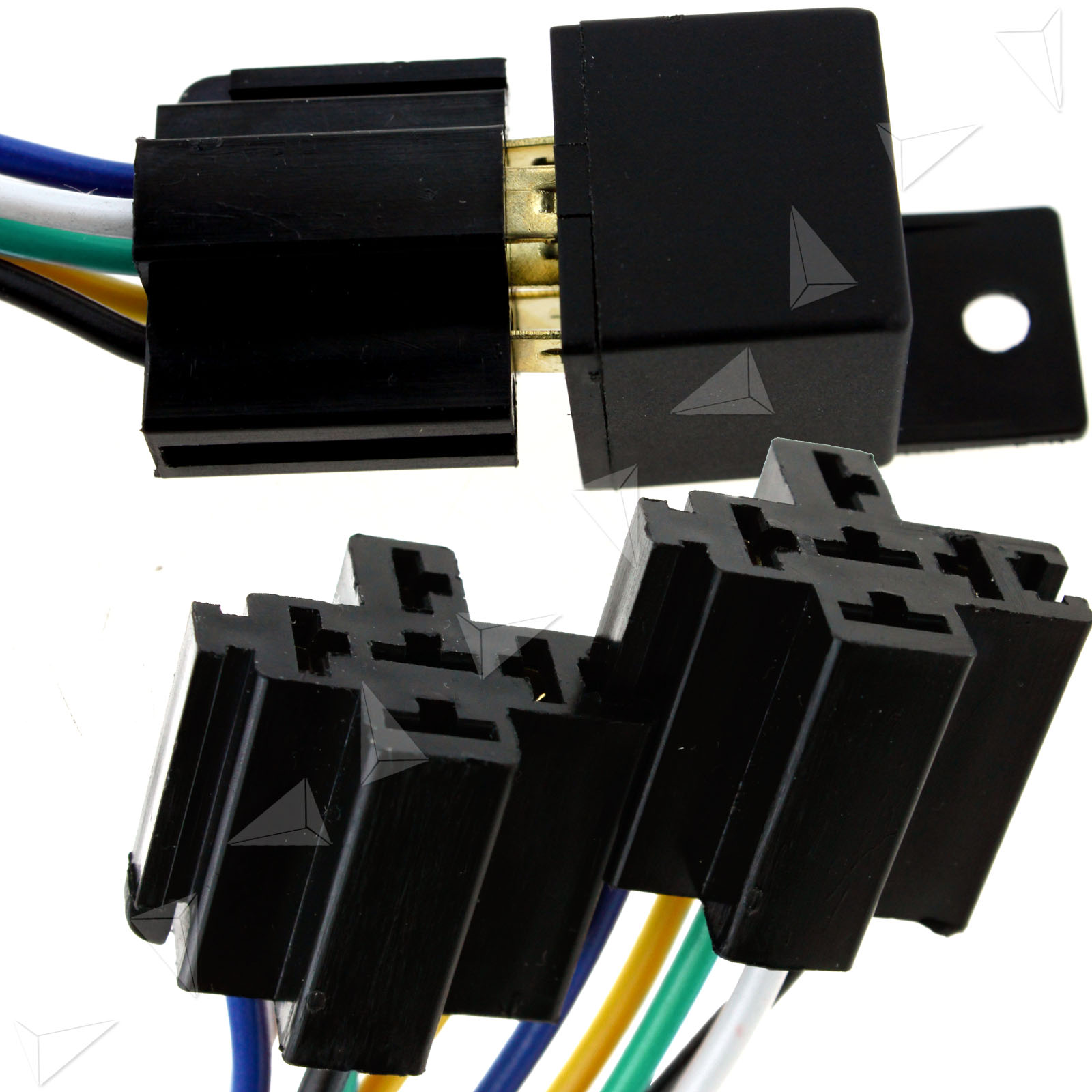 5 Pcs 12v 40a Pre Wired 5 Pin Auto Car Relay Mounting Base