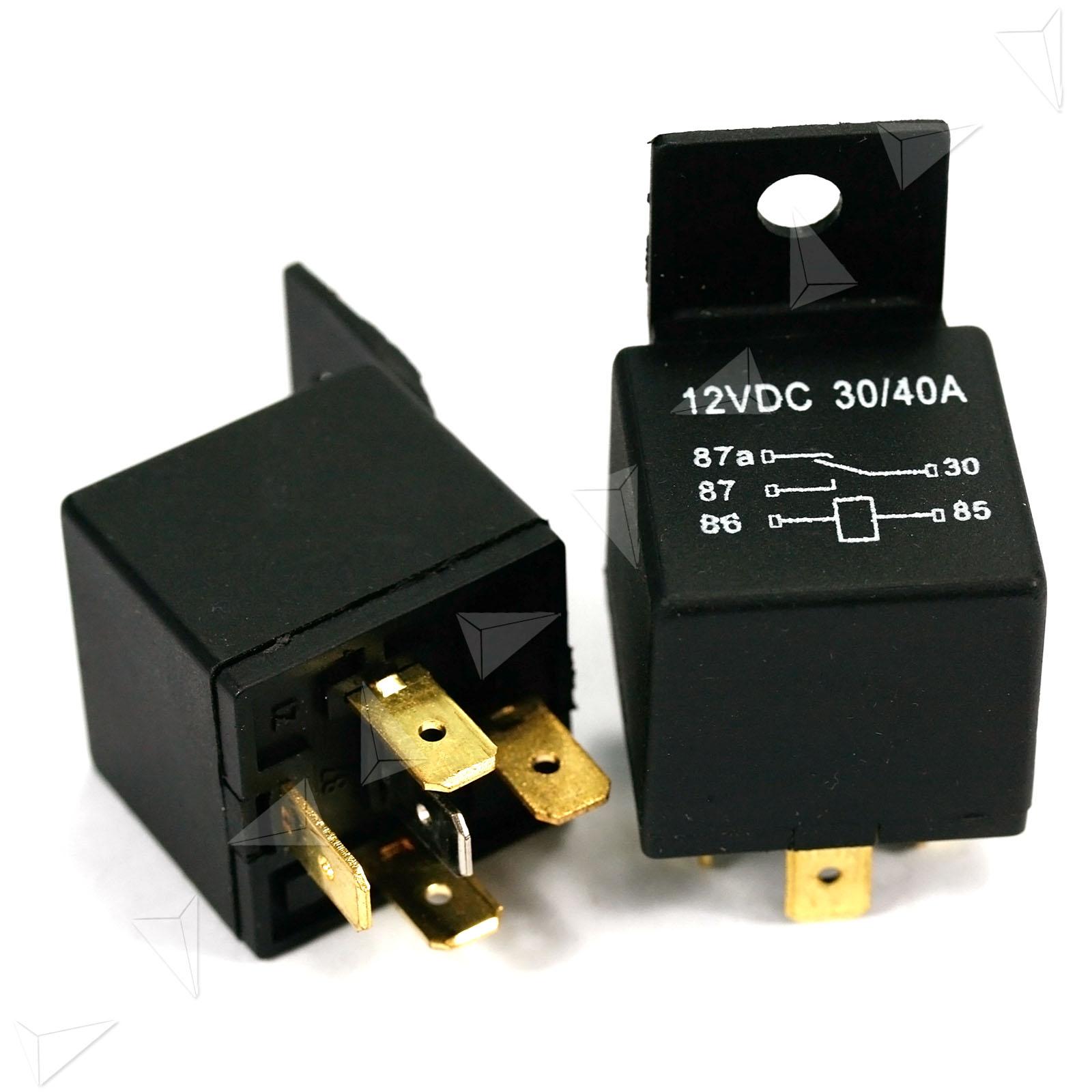 5x Car Vehicle 12v 12 Volt Dc 40a Amp Relay  U0026 Socket Set