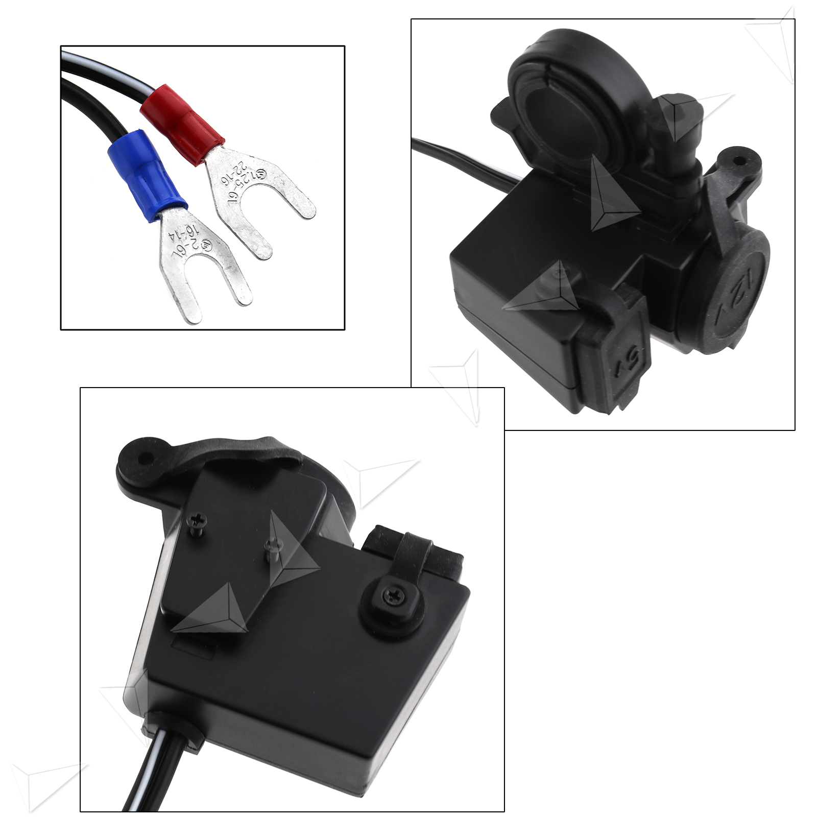 New 12v Motorcycle Cigarette Lighter Socket Usb Power Phone Charger With Fuse 735548158288