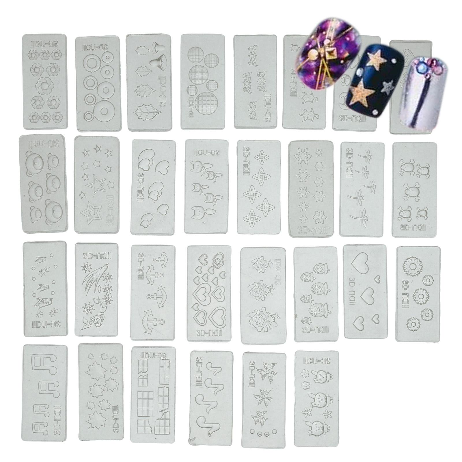 30 Different 3d Acrylic Nail Art Nail Art Tips Mo Mold Diy
