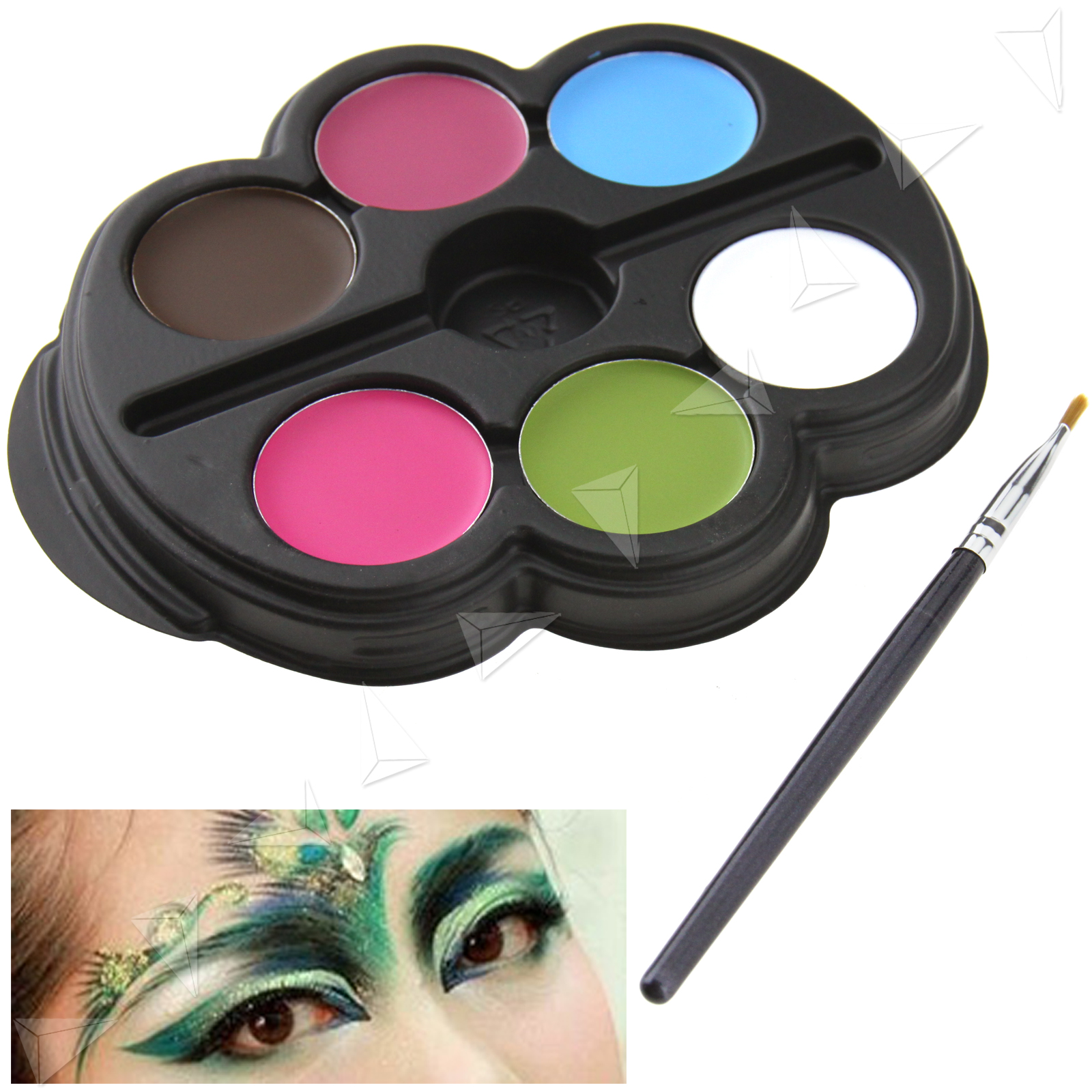Body Art Face Paint Palettes Make Up Stage Kit Party Kids Set Halloween Festival