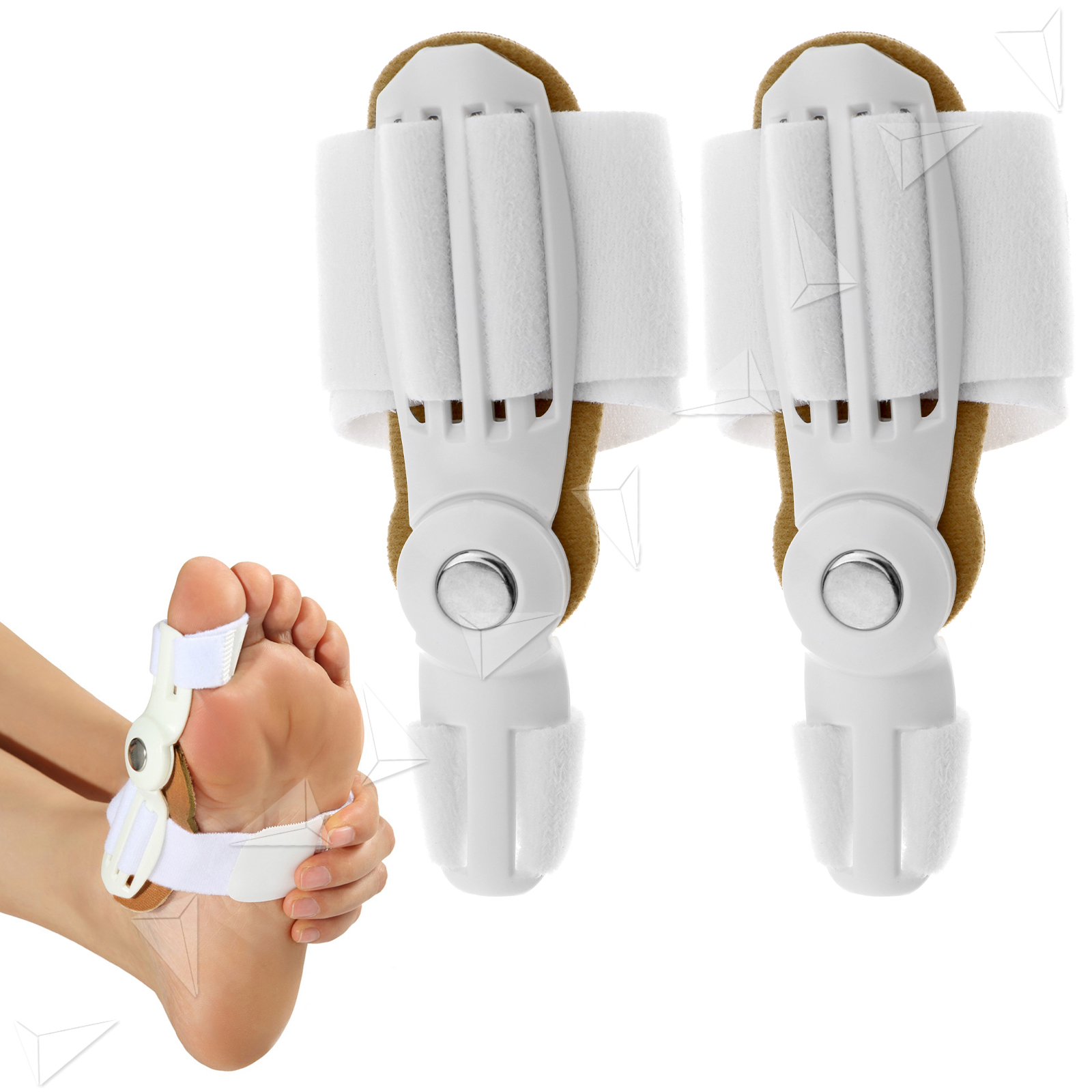 Toe Bunion Straightener Separator Hinged Protector Splint Pad For Hallux Valgus Correction 1pair Silicone Foot Fingers Thumb Protect