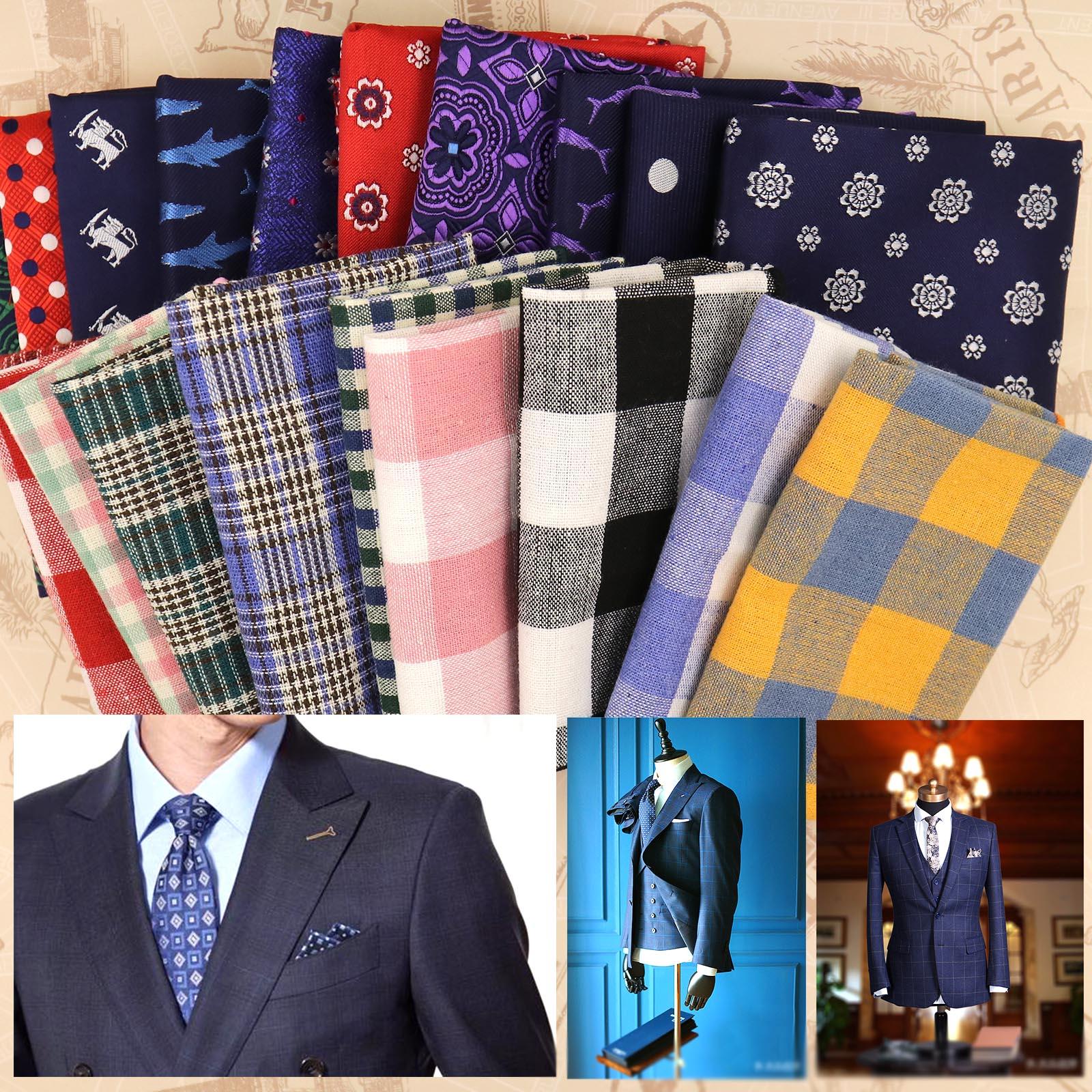 26 Pieces Mens Assorted Plain Colors Pocket Square Handkerchief Satin Polyester