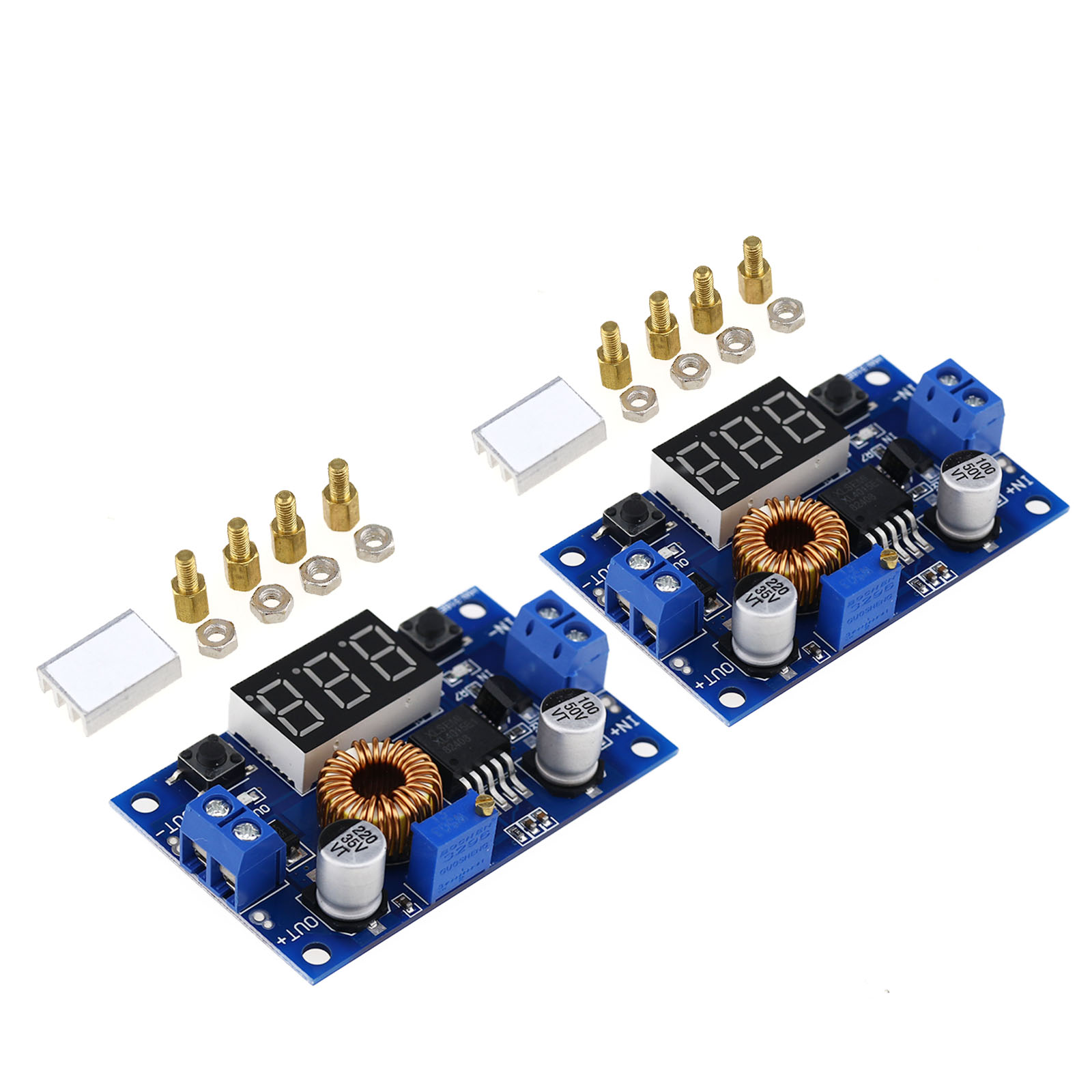 5A LED Buck Converter DC-DC Step-Down Converter Volt Meter To Monitor the Supply