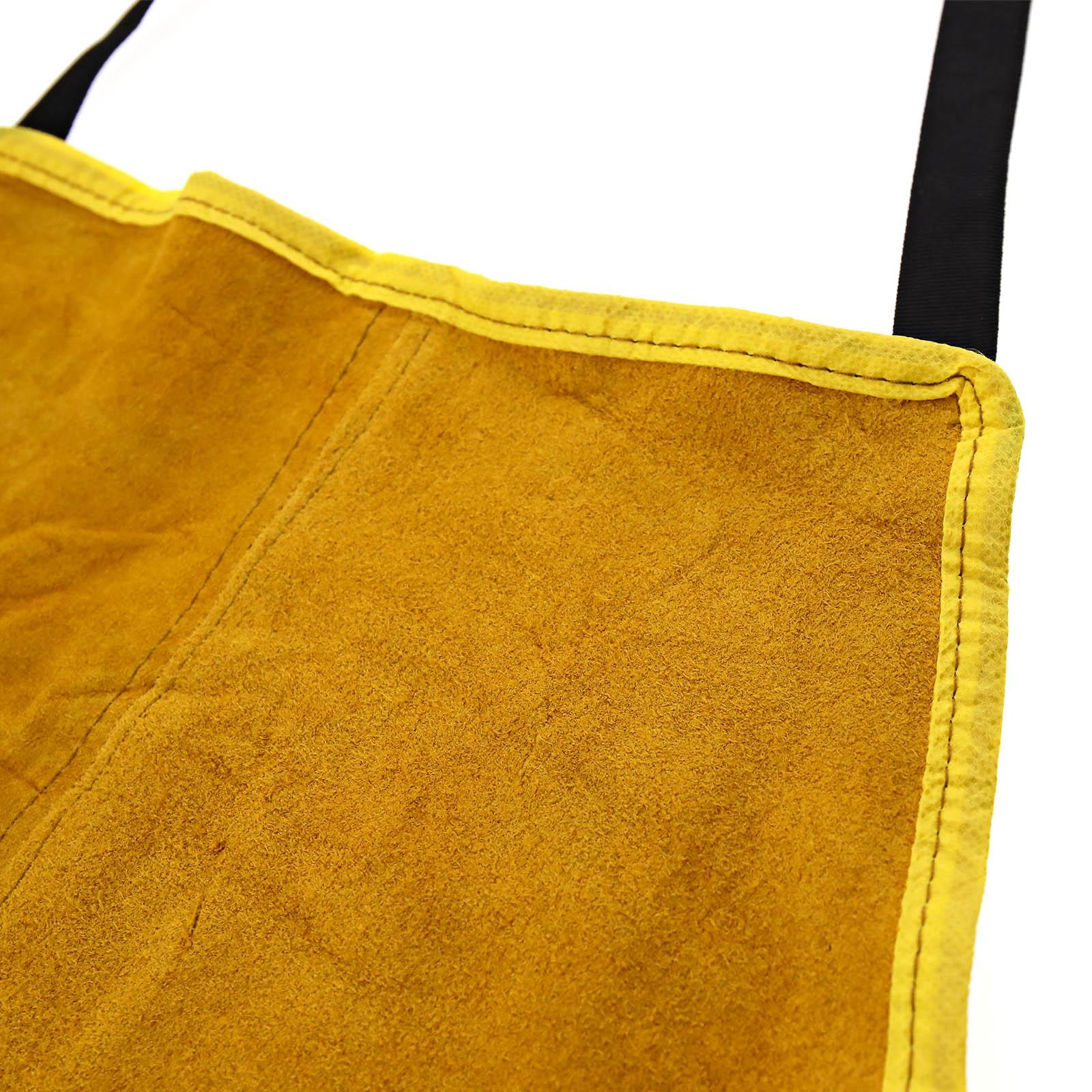 Premium Gold Leather Welders Carpenters Welding Gardeners Safety Apron