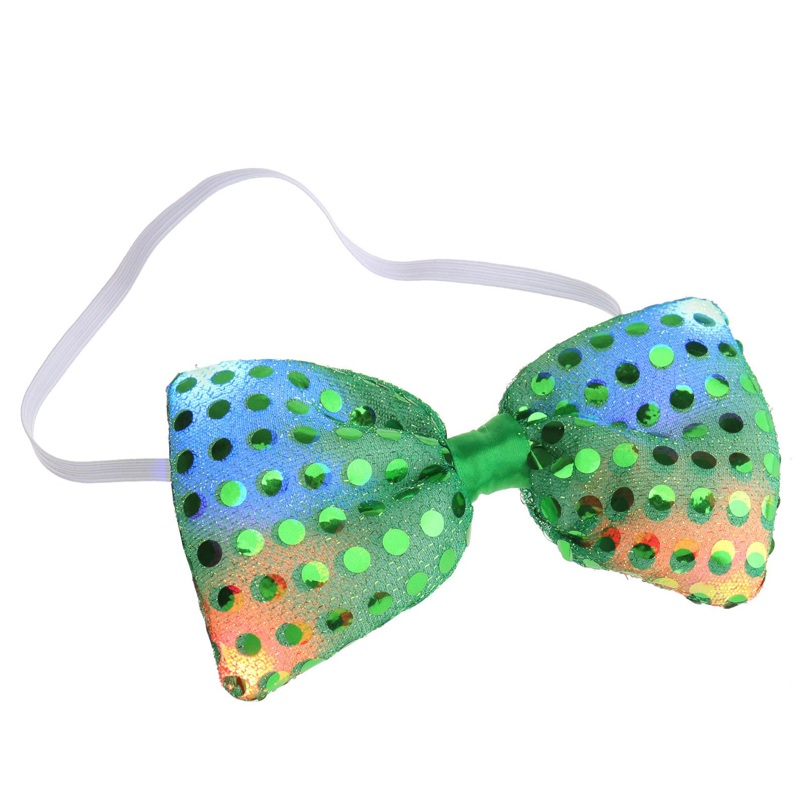 Phantasie LED Blinklicht Pailletten Bowtie Krawatte Fliege  Hochzeit Gut