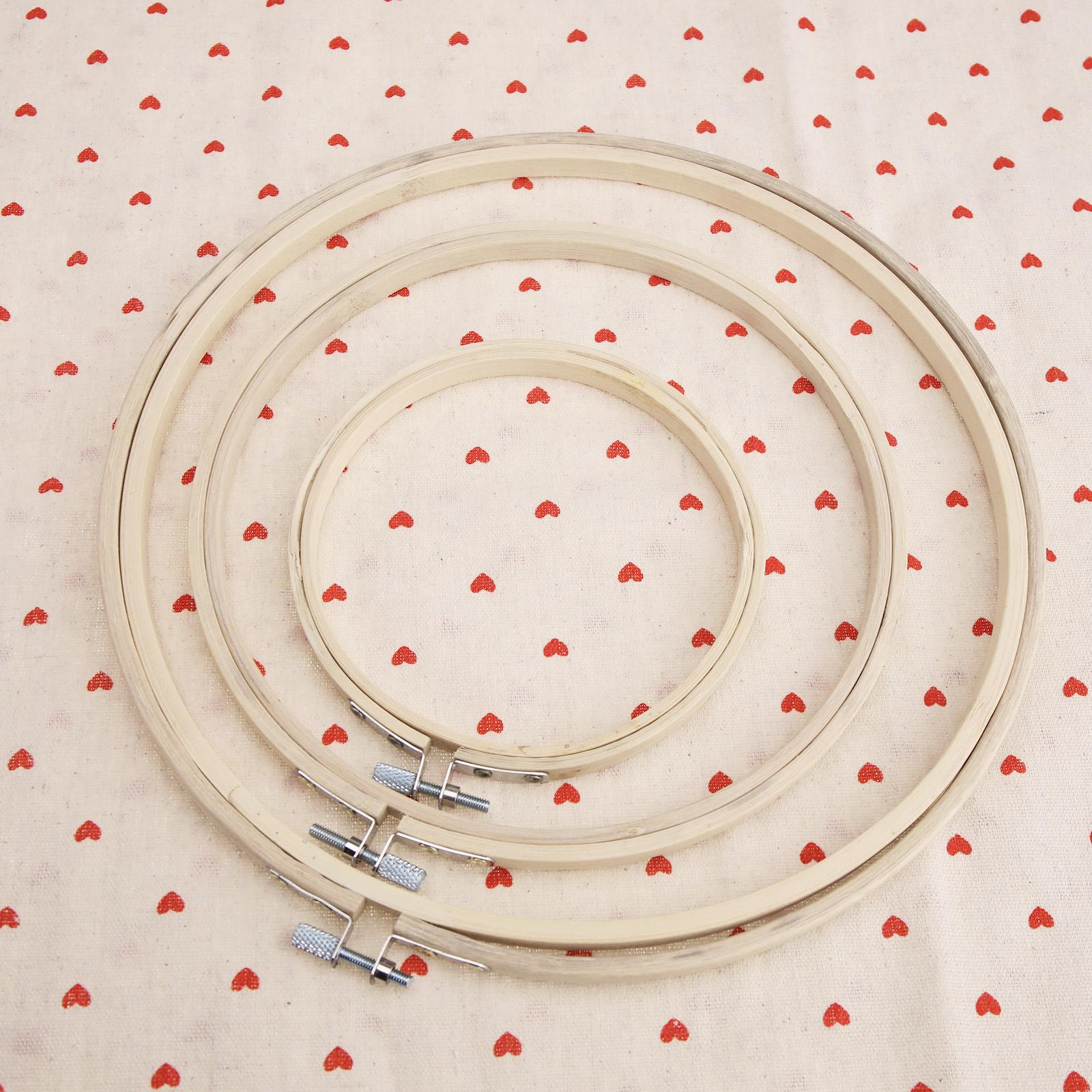 3x STICKRAHMEN Set Kreuzstich Ø12-25cm STICKRING +Schraube ...
