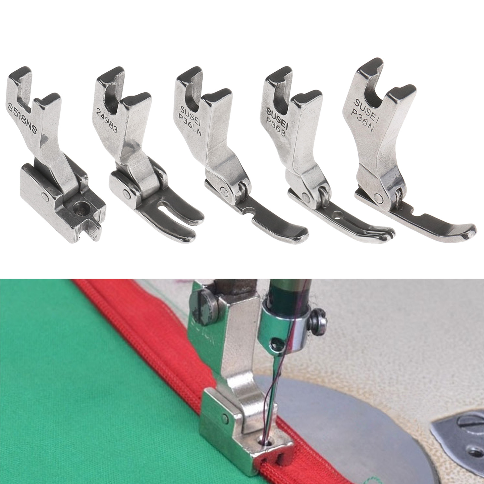 Hinged Zipper Foot Presser P36N//P36LN Industrial Sewing Machine Accessories