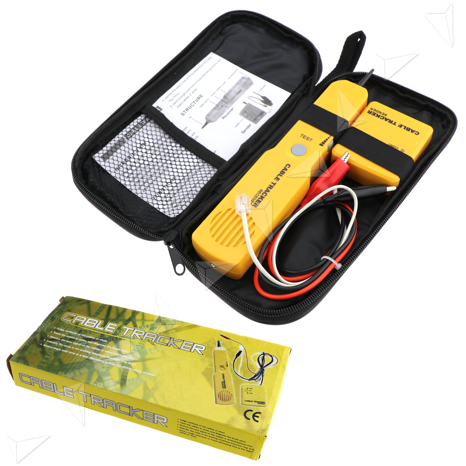 Telephone Network Tone Wire Cabletester Tracker Automotive Short Circuit Open Detector Tracersender For Rj11 Line Finder Cable Tester Toner